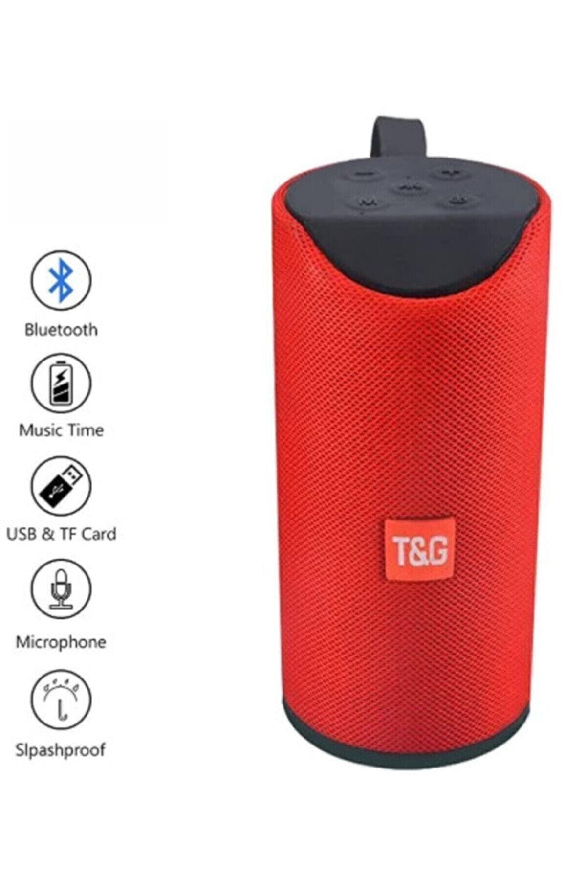 T G Hobipix Extra Bass Bluetooth Hoparlör Taşınabilir Kablosuz Ses Bombası Kırmızı