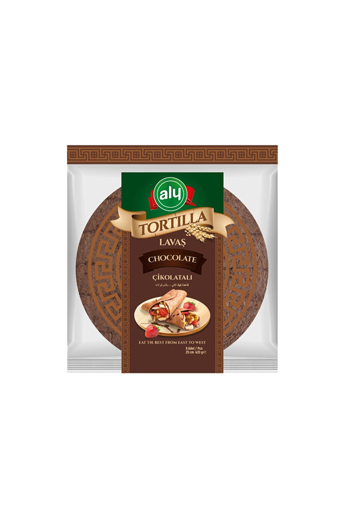 Aly Çikolatalı Tortilla Lavaş 25 cm 6'lı Paket 420g