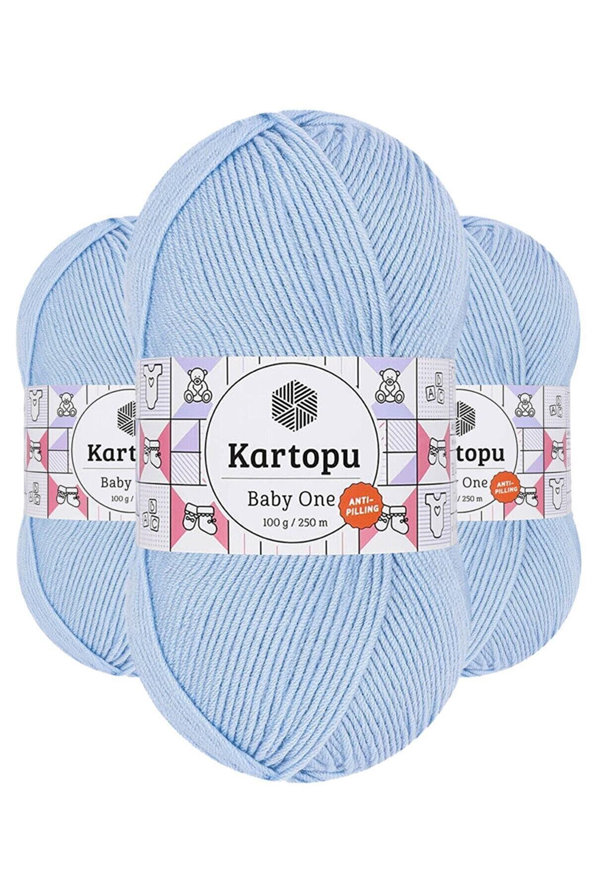 Kartopu Baby One K544 (bebe Mavi) Anti-pilling El Örgü Ipi/yünü 1 Adet