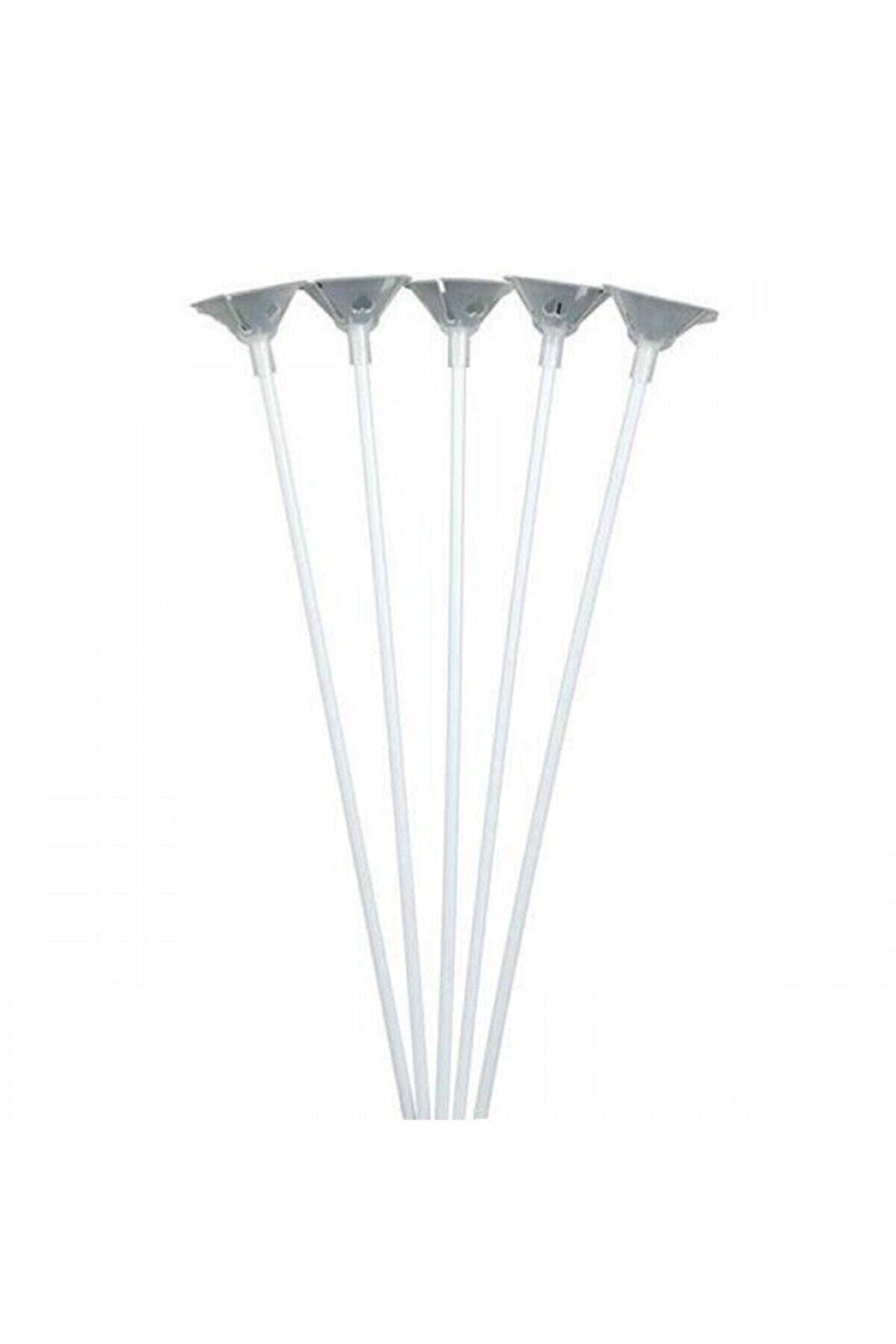 YCK BALON Balon Çubuk Set (gümüş) 100 Adet