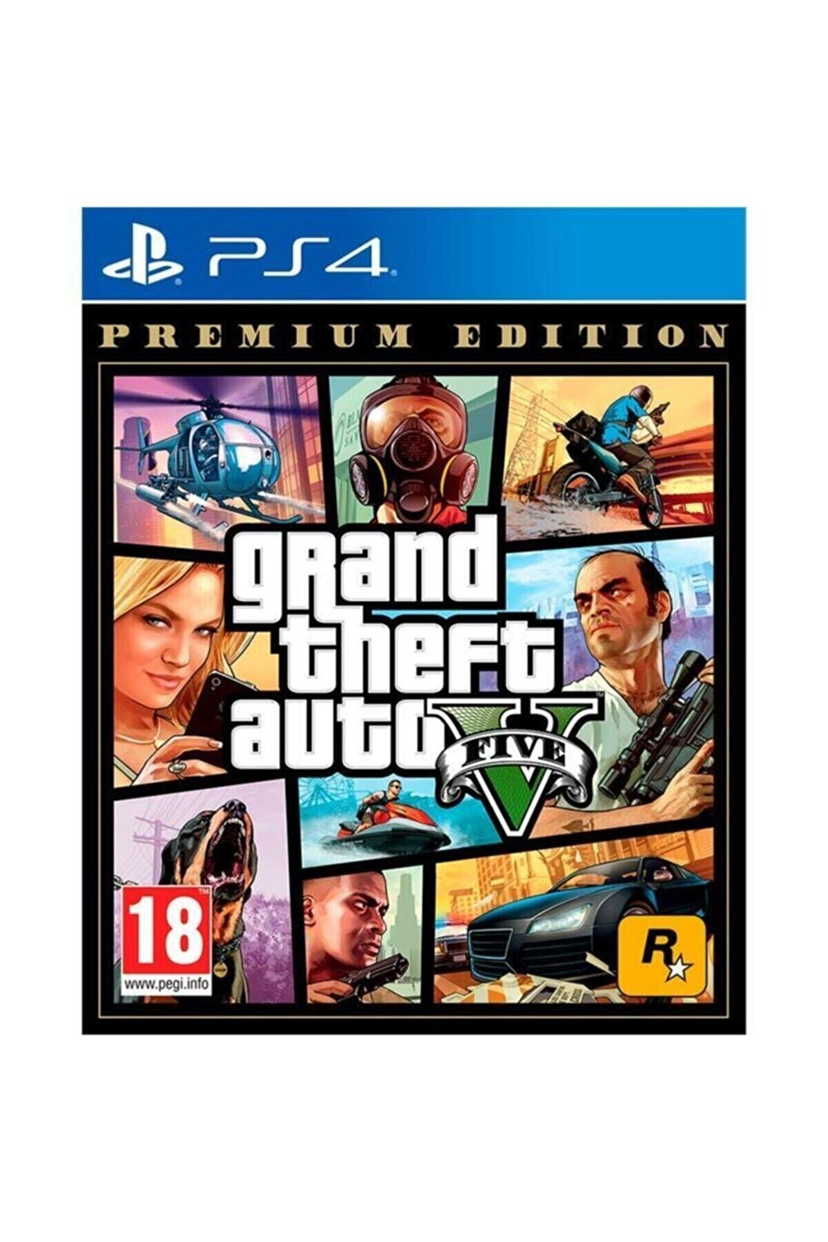 Rockstar Grand Theft Auto V Premium Edition PS4 Oyun - GTA 5