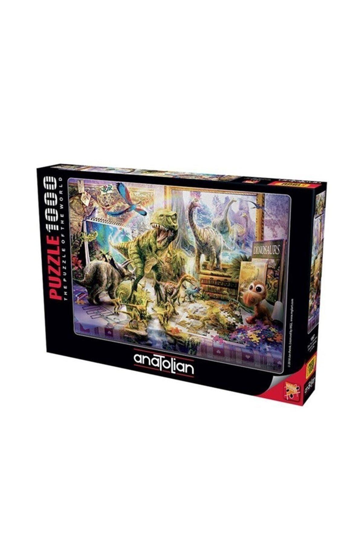 Anatolian Puzzle 1067 Anatolian Dinazorlar Sahnede - Dino Toys Come Alive 1000 Parça Puzzle