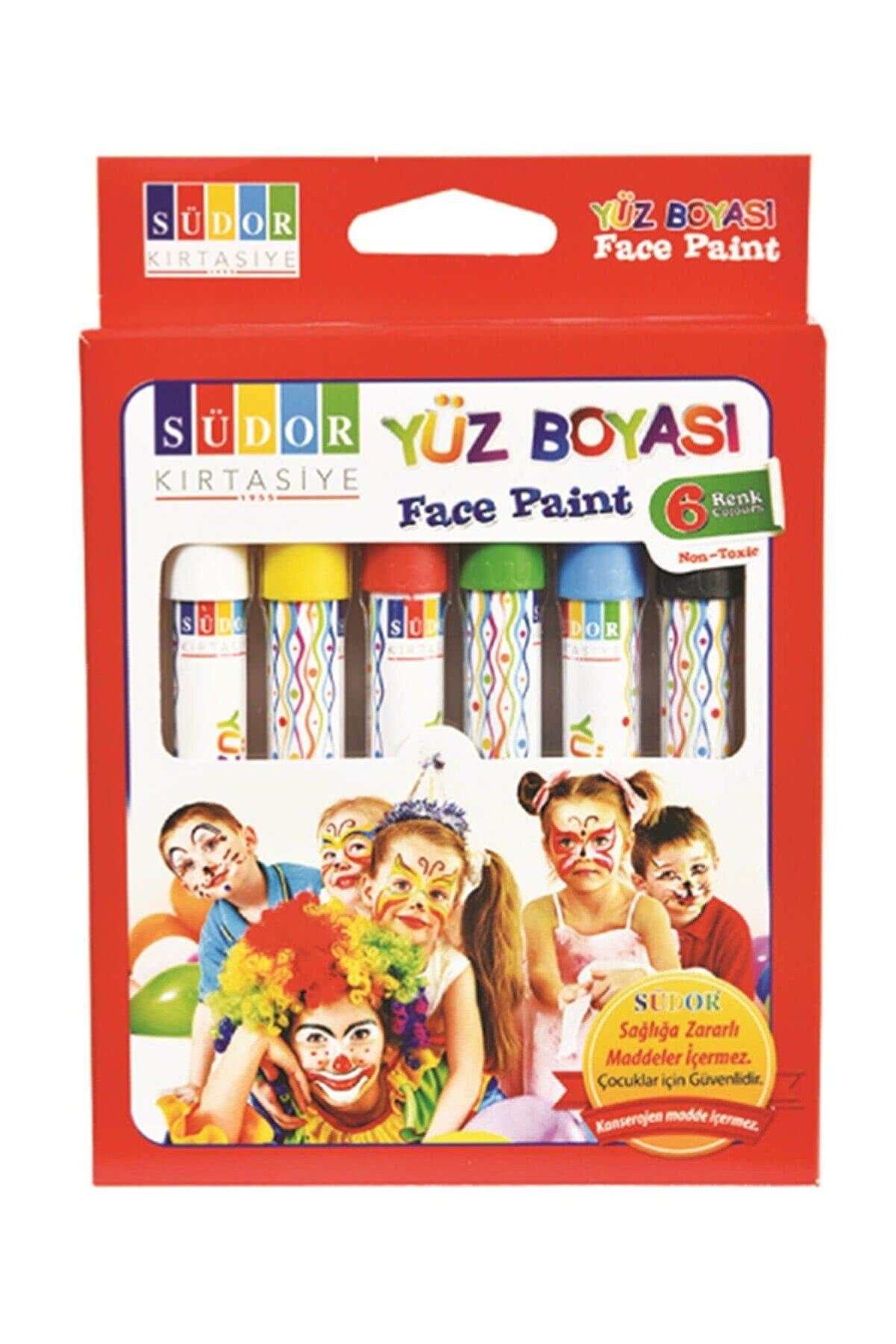 Südor Yüz Boyası 6 Renk Mixartcolors