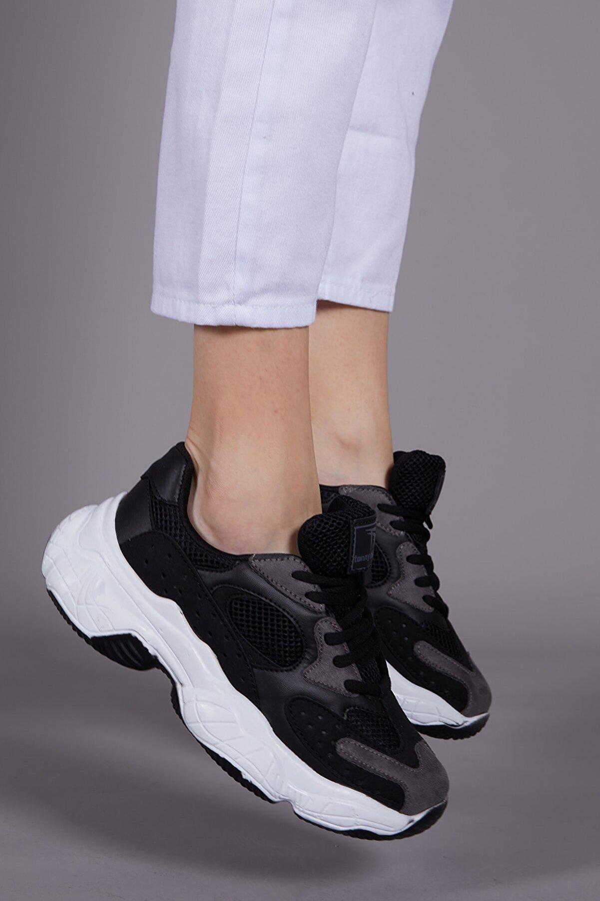 Tonny Black Kadın Siyah Spor Ayakkabı Tb284
