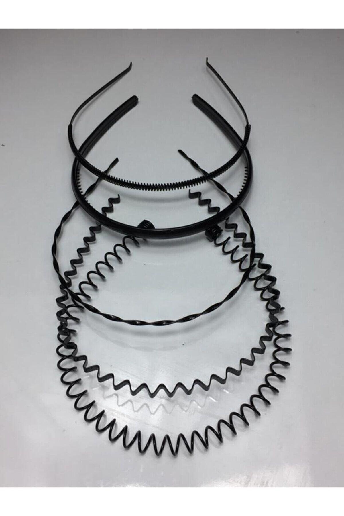 Durubags Siyah Metal Taç Erkek Kadın Sporcu Saç Tacı 5 Parçalı Set-1