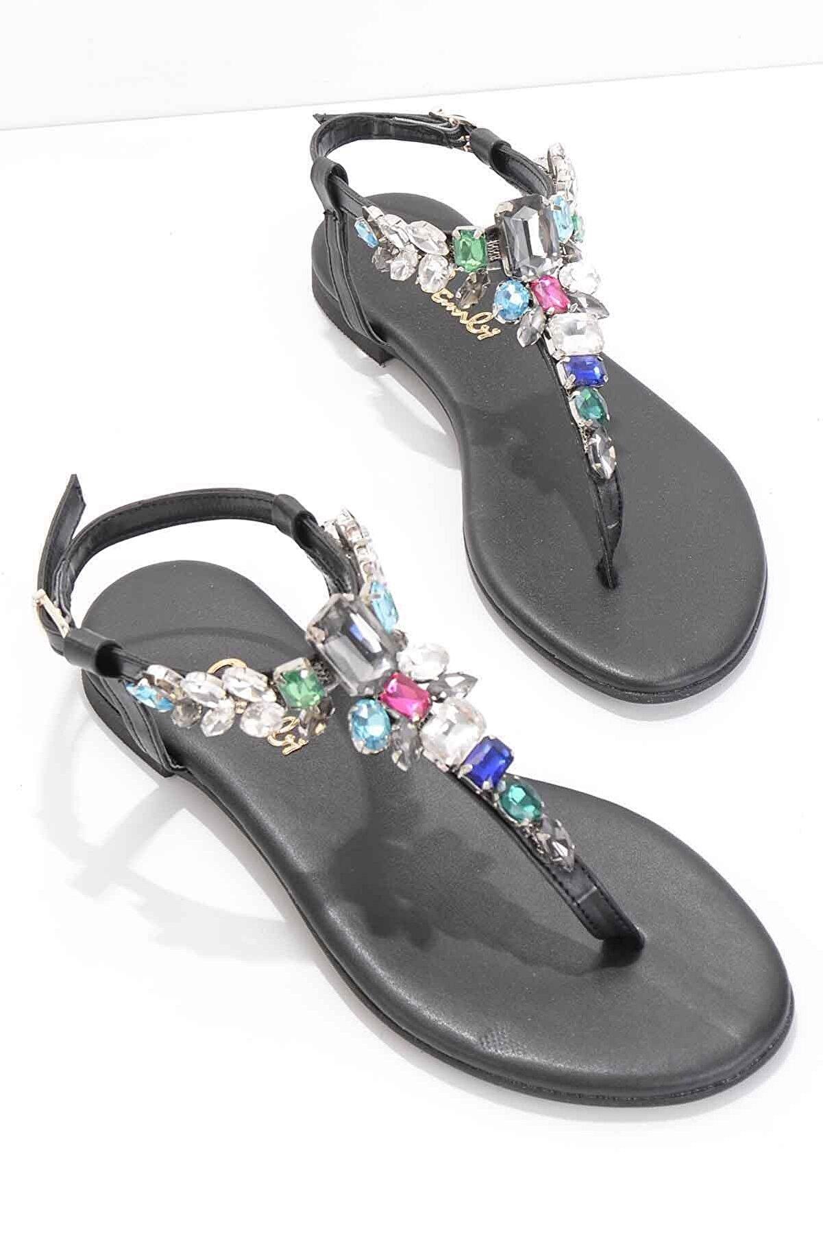 Bambi Siyah Kadın Sandalet K05544007009
