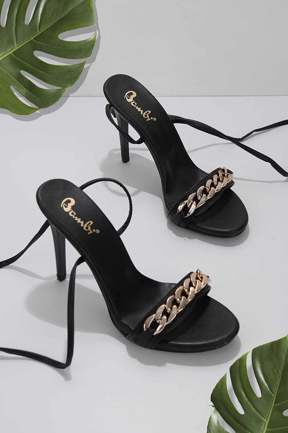 Bambi Siyah Kadın Klasik Topuklu Ayakkabı K05527250909