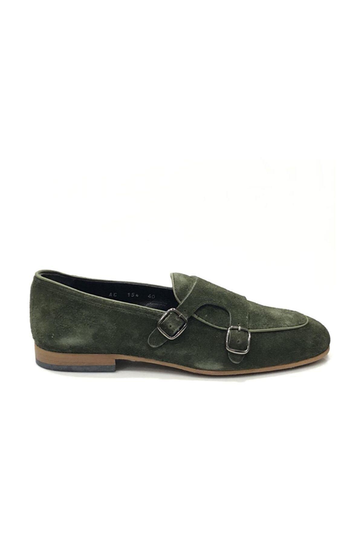 Tetri Haki Süet Klasik Ayakkabı