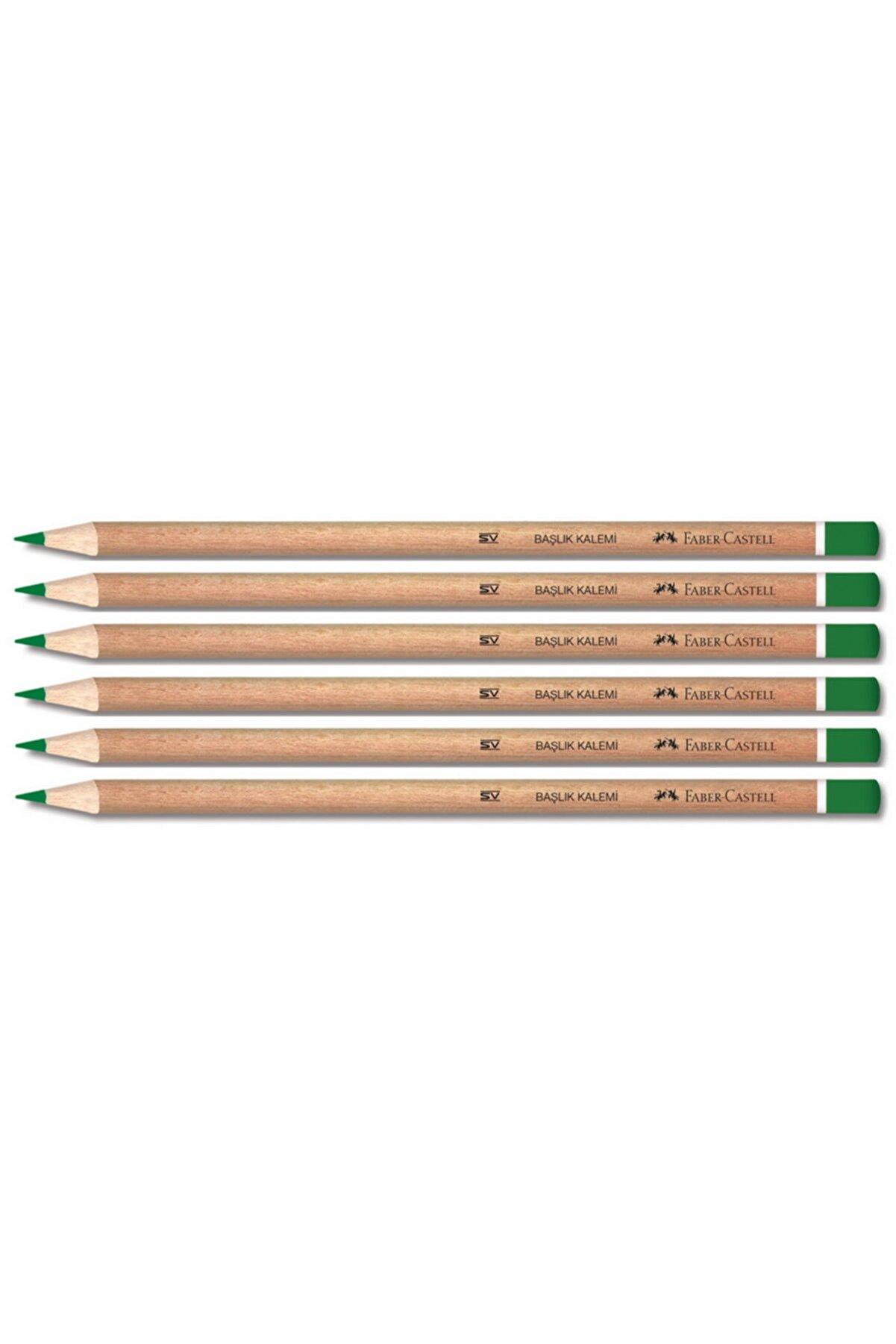 Faber Castell Naturel Yeşil Renkli Kurşun Kalem 6 Lı Paket