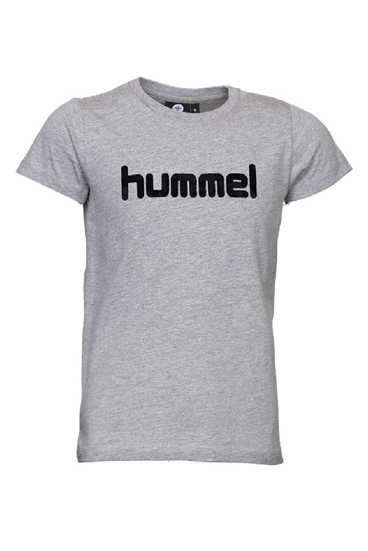 HUMMEL Gri Kız Çocuk Mota Kısa Kollu Tişört