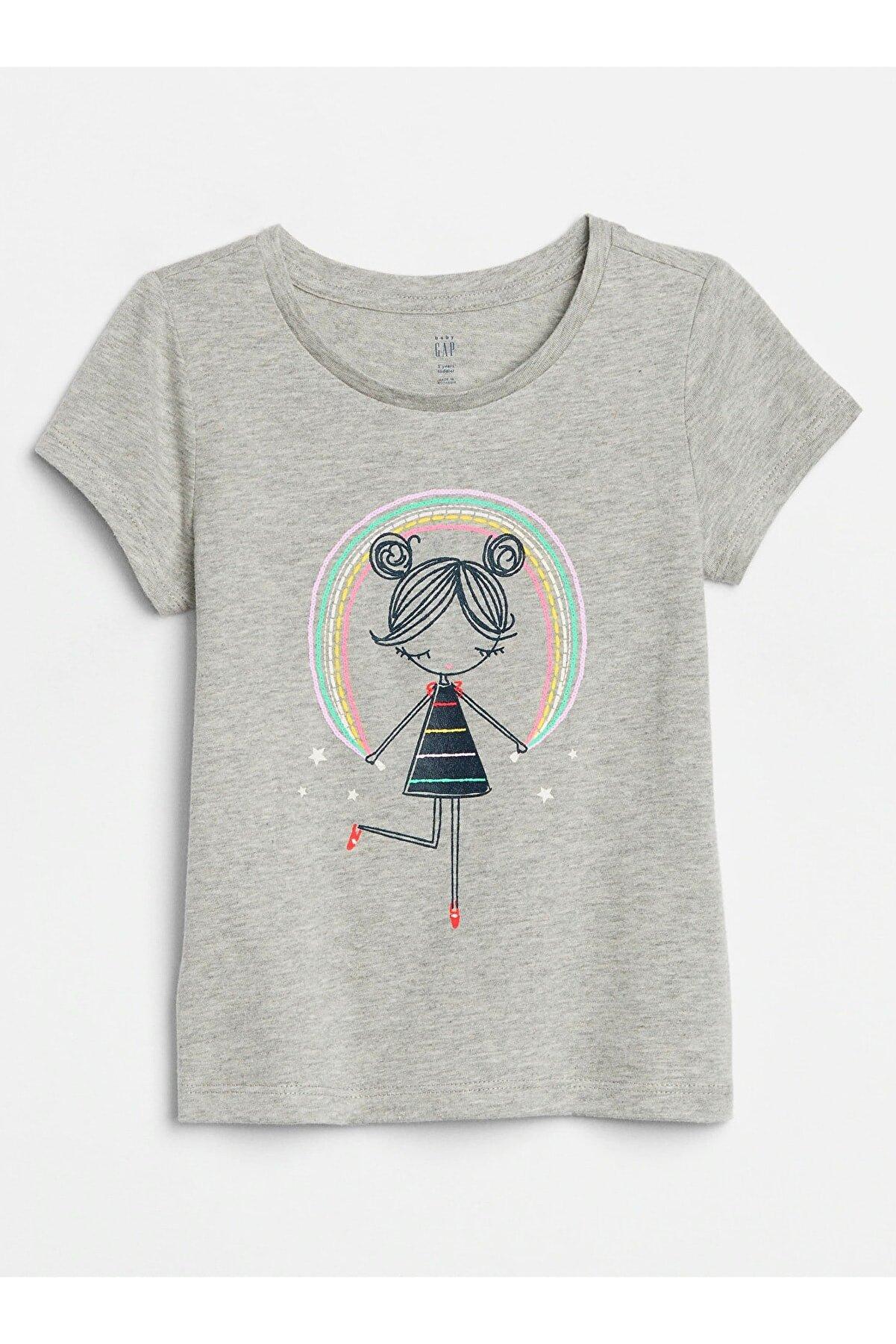 GAP Kız Bebek Grafik Kısa Kollu T-Shirt