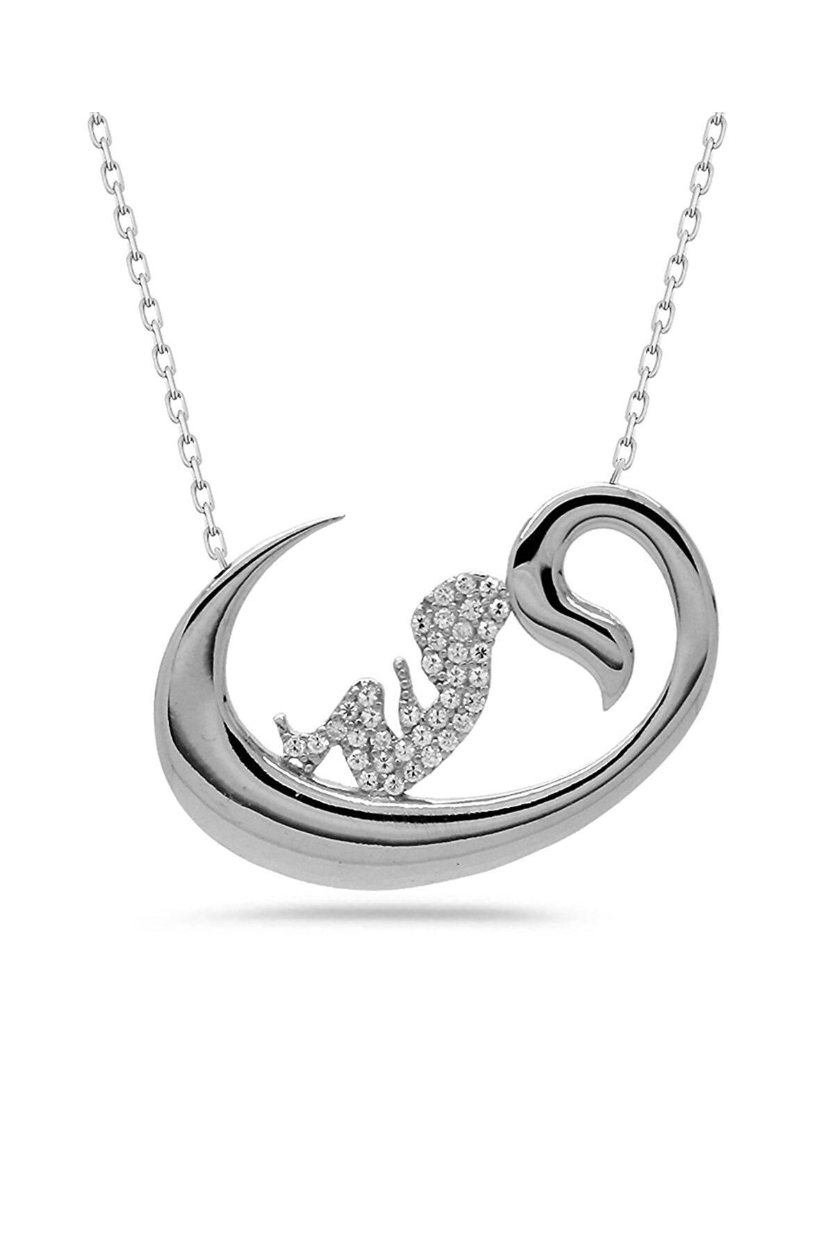 Else Silver Vav Harfi Gümüş Doğum Kolye