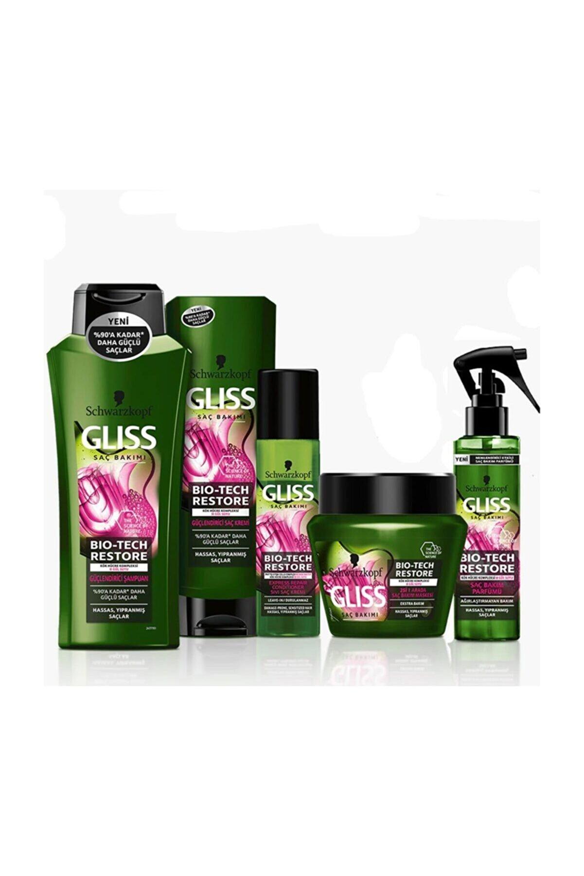 Gliss Bio-tech Restore Güçlendirici Onarıcı Saç Bakım Seti 5'li