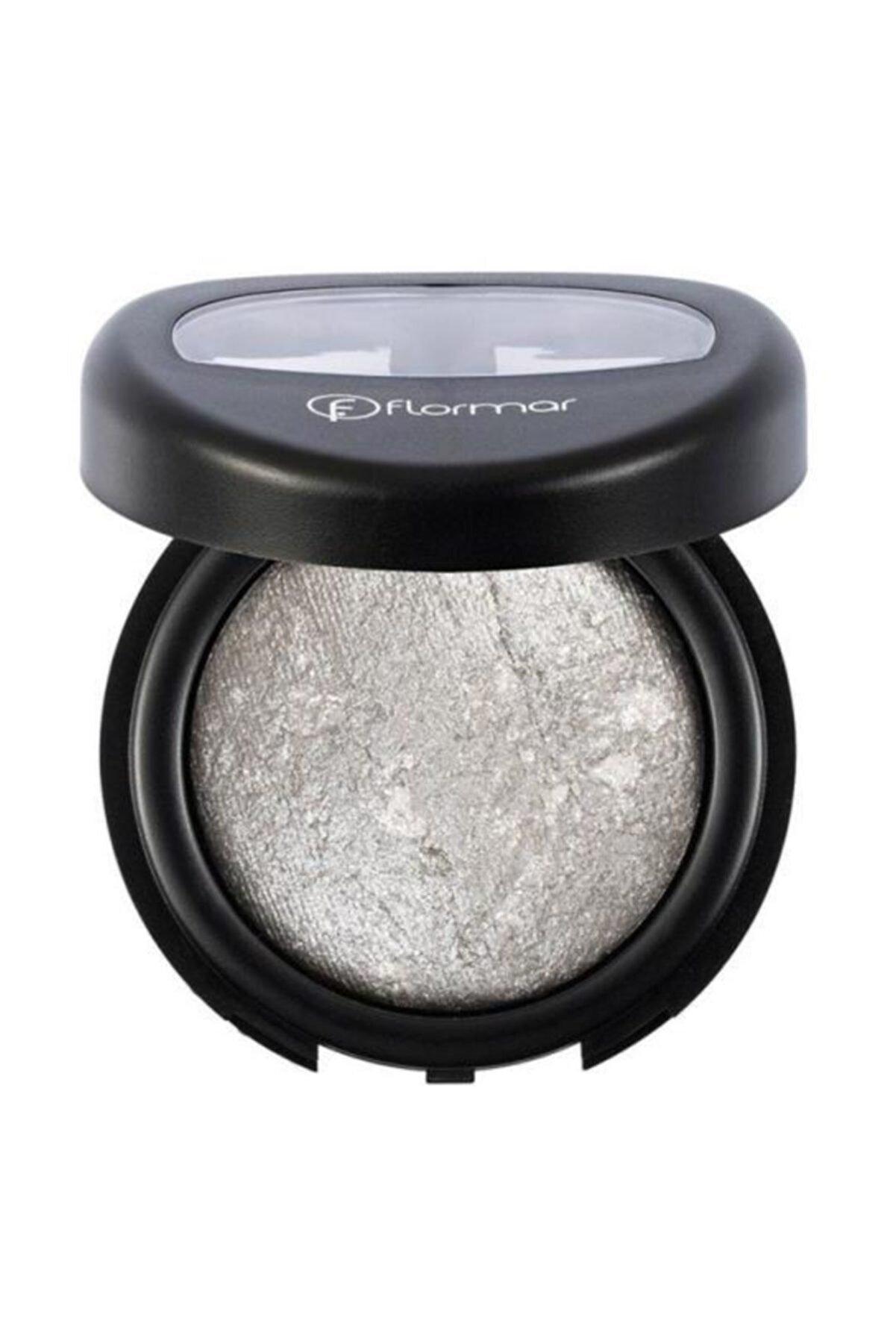 Flormar Diamonds Baked Eyeshadow Işıltılı Gri Göz Farı D10 8690604145799