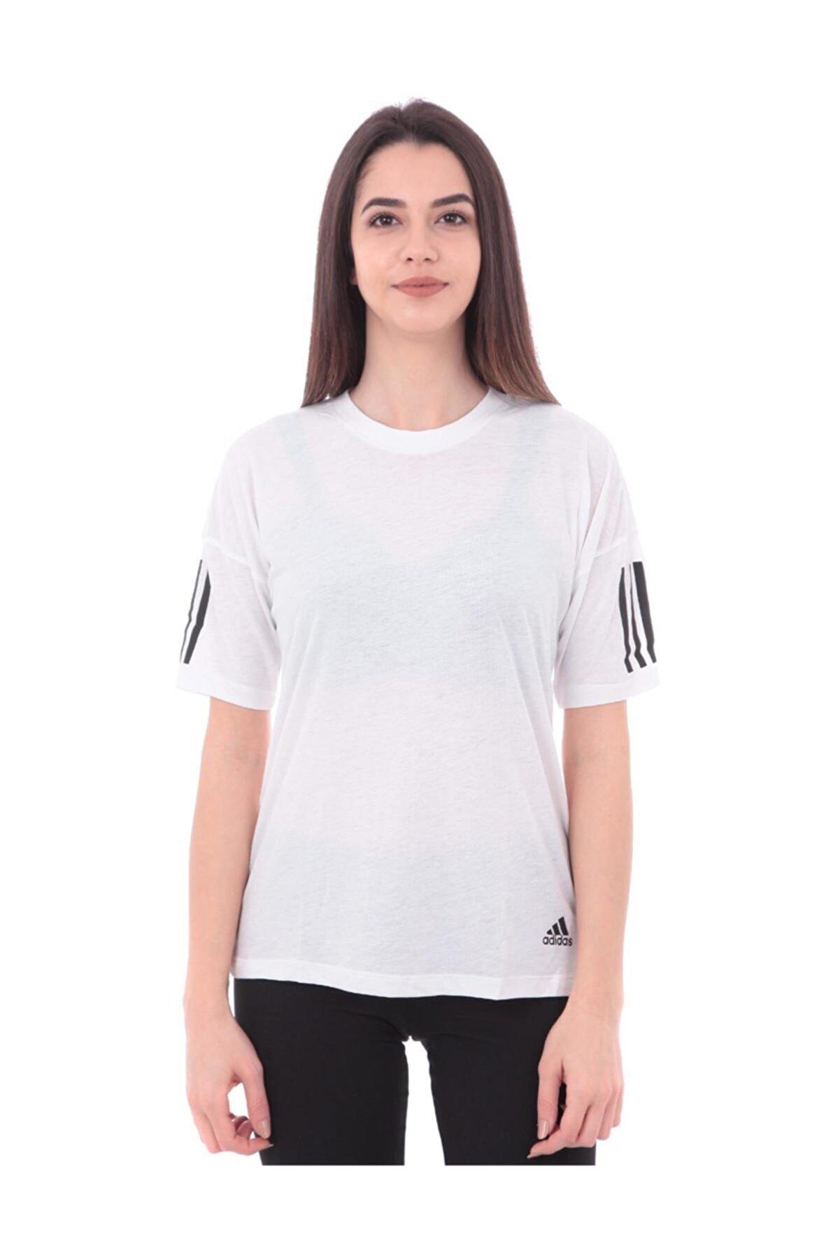 adidas W MH 3S Beyaz Kadın Kısa Kol Tişört 100575794