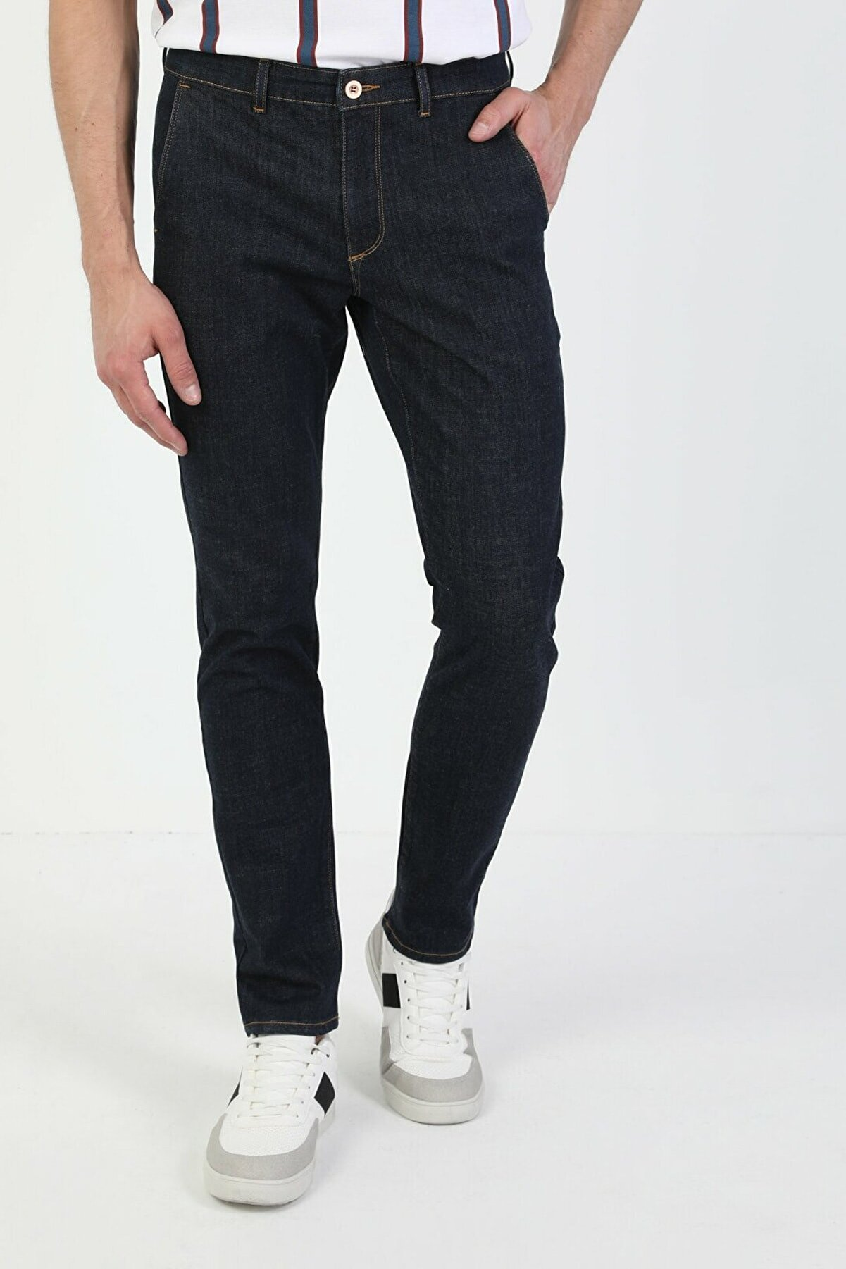 Colin's ERKEK 034 Denım Chıno Düşük Bel Dar Paça Slim Fit Jean Erkek Jean Pantolon CL1049645
