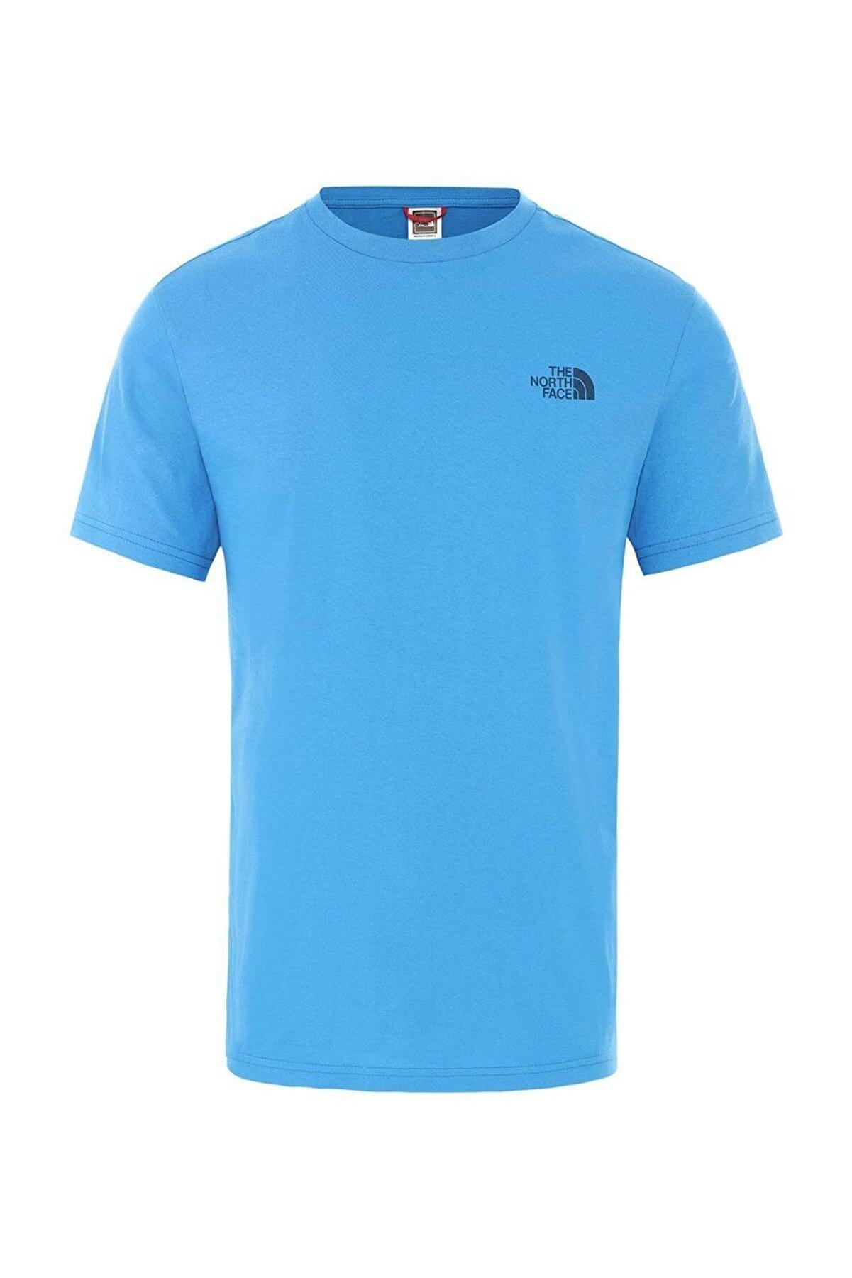 The North Face M S/S SIMPLE DOME  EU Açık Mavi Erkek T-Shirt 100576725