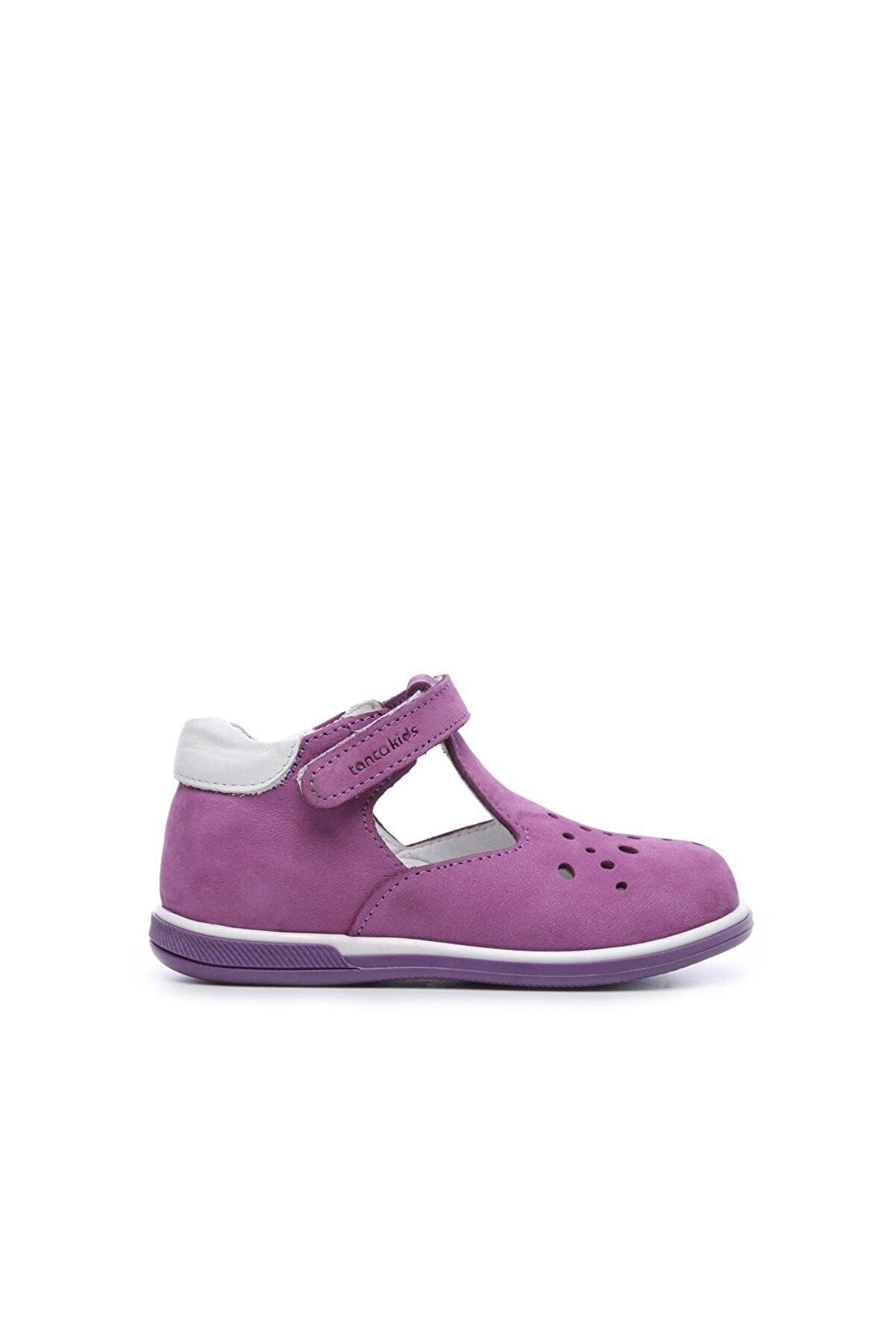Kemal Tanca Kız Çocuk Mor Hakiki Deri Ayakkabı 659 183 CCK 19-25 Y 19