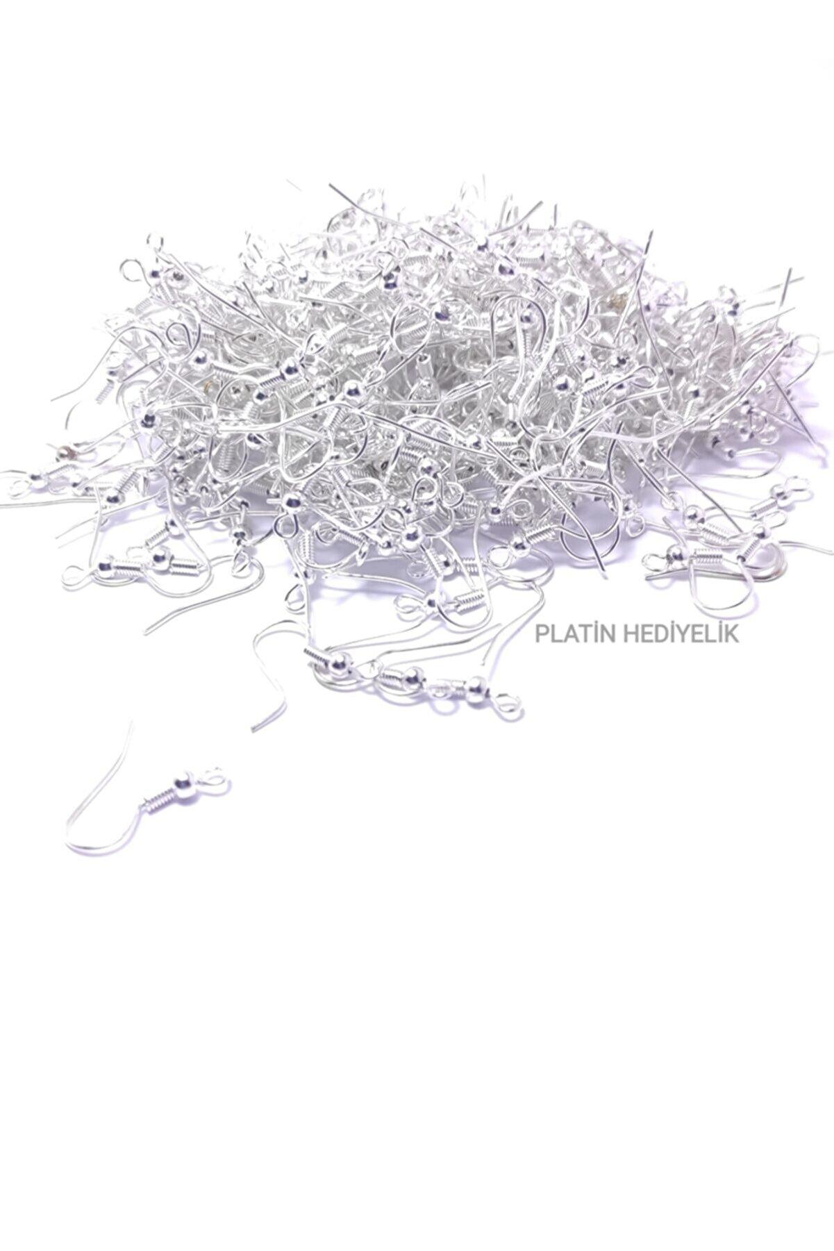 platin hediyelik Parlak Gümüş Renk Küpe Kancası Klipsi Malzemesi 50 Çift