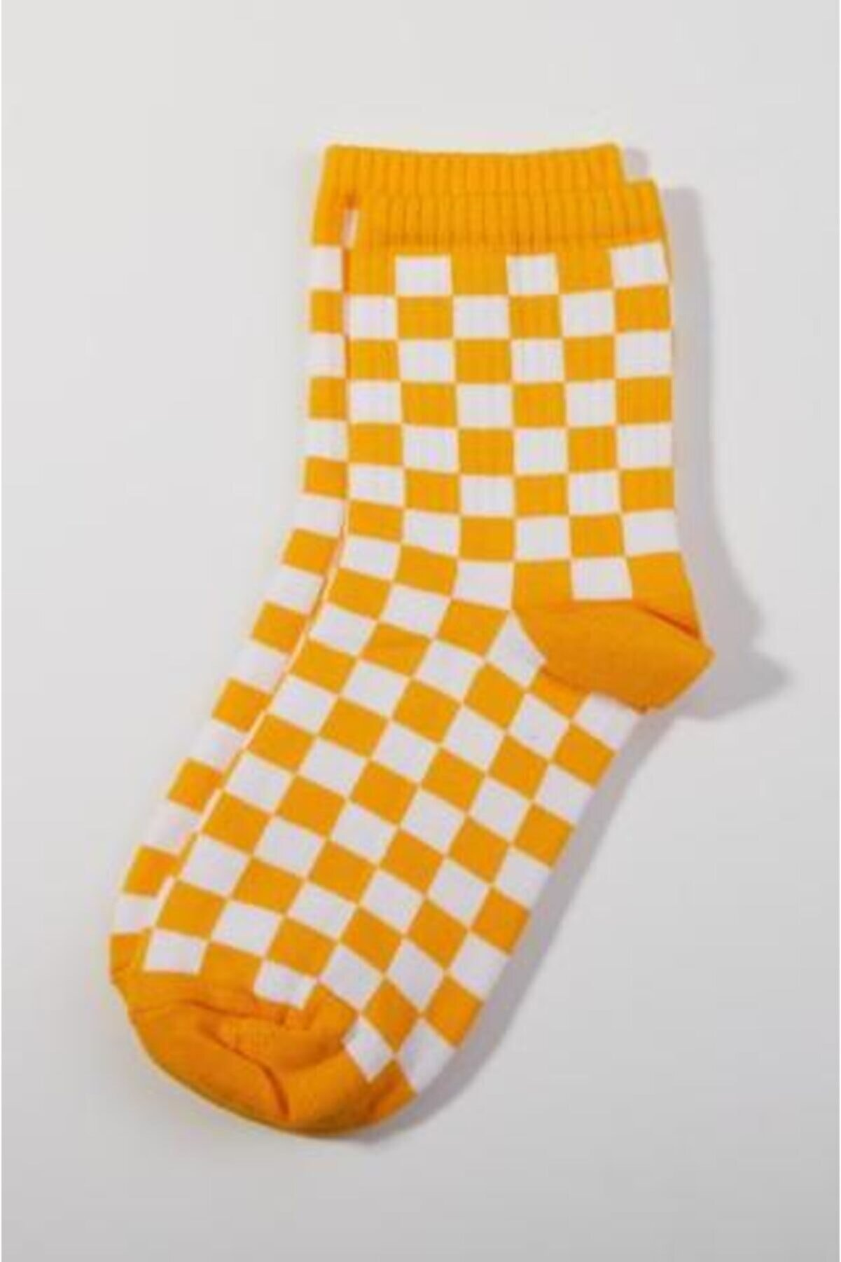 Ef Butik Sarı Dama Çorap