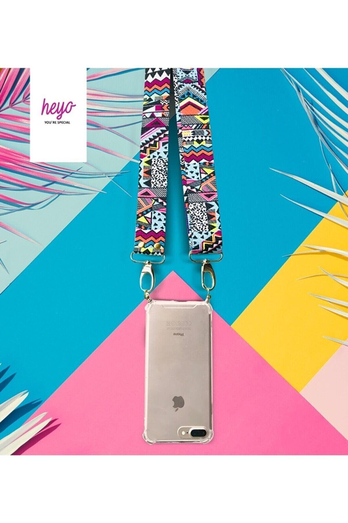 HEYO COVER Iphone 11 Boyundan Askılı Etnik Desen Telefon Kılıfı
