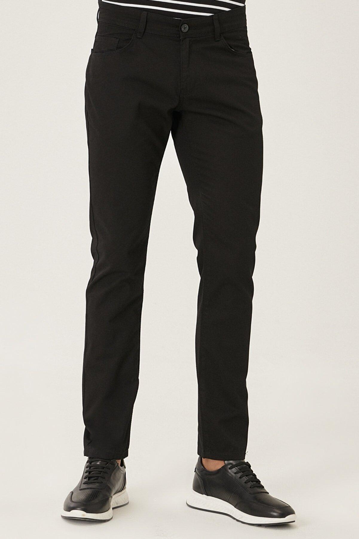 Altınyıldız Classics Kanvas Slim Fit Dar Kesim %100 Koton 5 Cep Pantolon