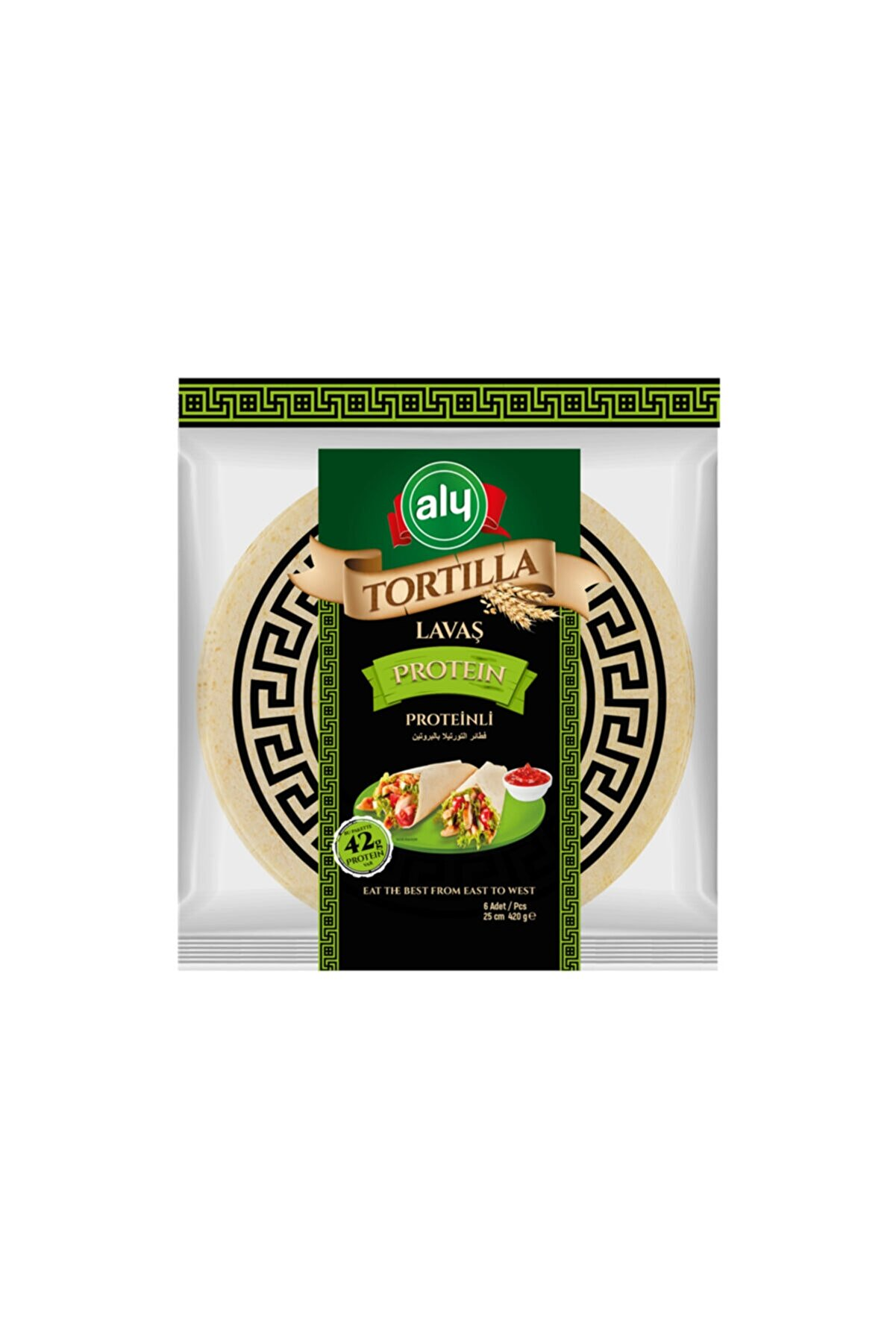 Aly Proteinli Tortilla Lavaş 25 cm 6'lı Paket 420 g