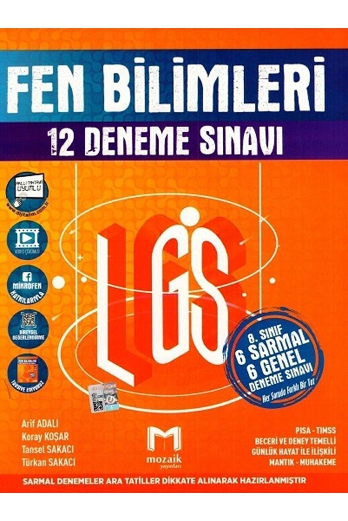 DIGERUI 8. Sınıf Lgs Fen Bilimleri 12 Li Deneme Sınavı Mozaik Yayınları