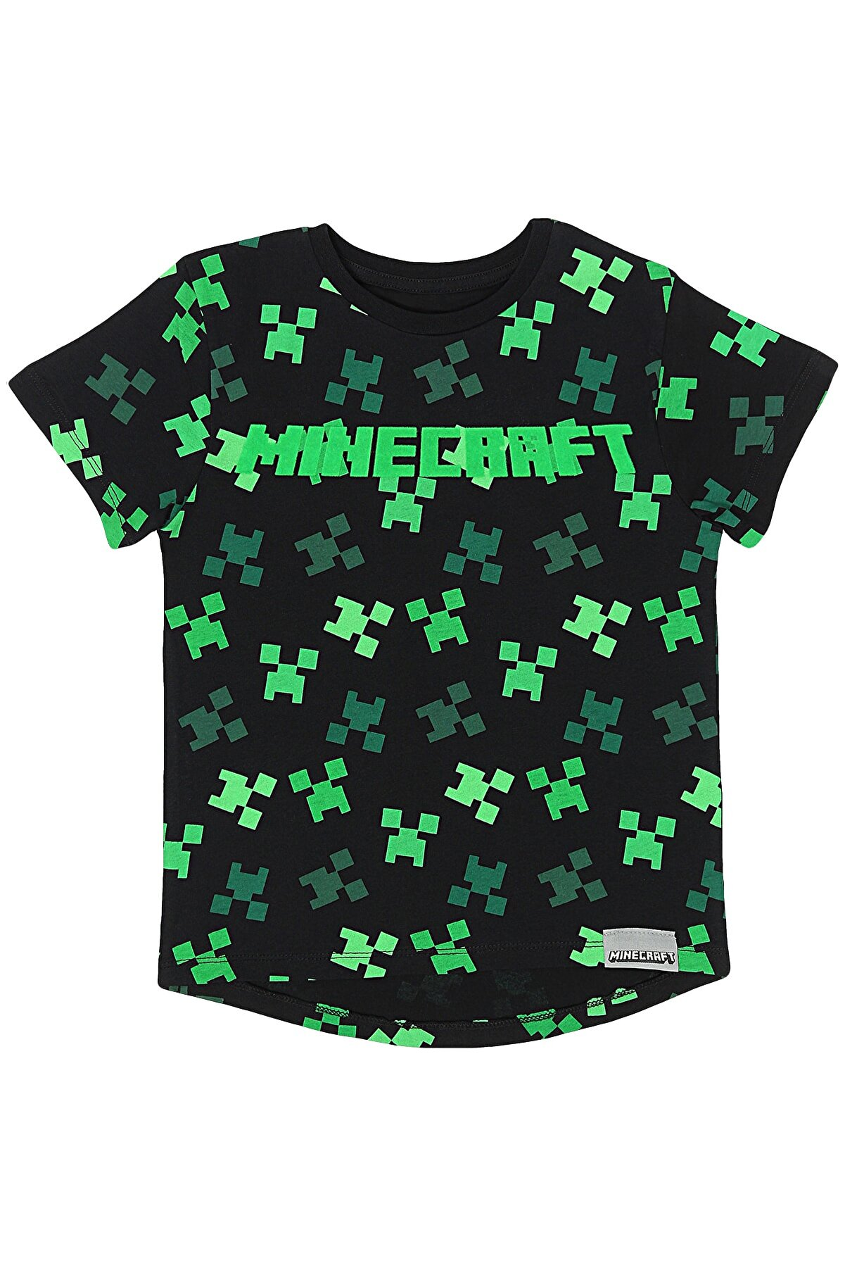 Minecraft Erkek Çocuk Siyah Tshirt