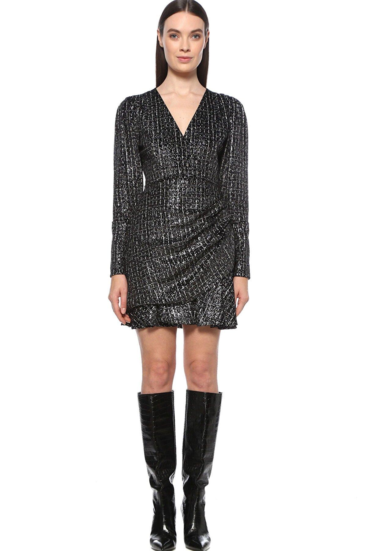 Network Kadın Silver (Gümüş Rengi) Siyah Elbise 1077389