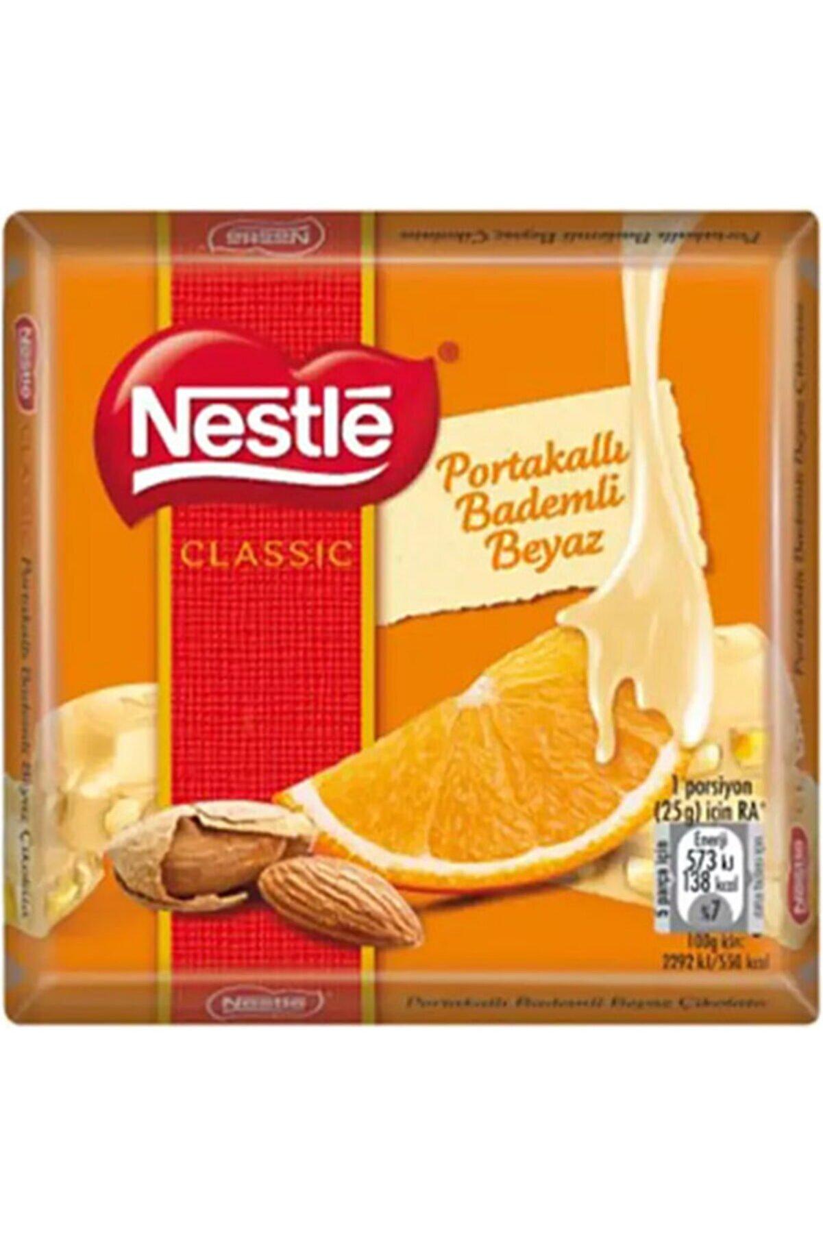 Nestle Portakallı Bademli Beyaz Çikolata 6 Adet 65 Gram