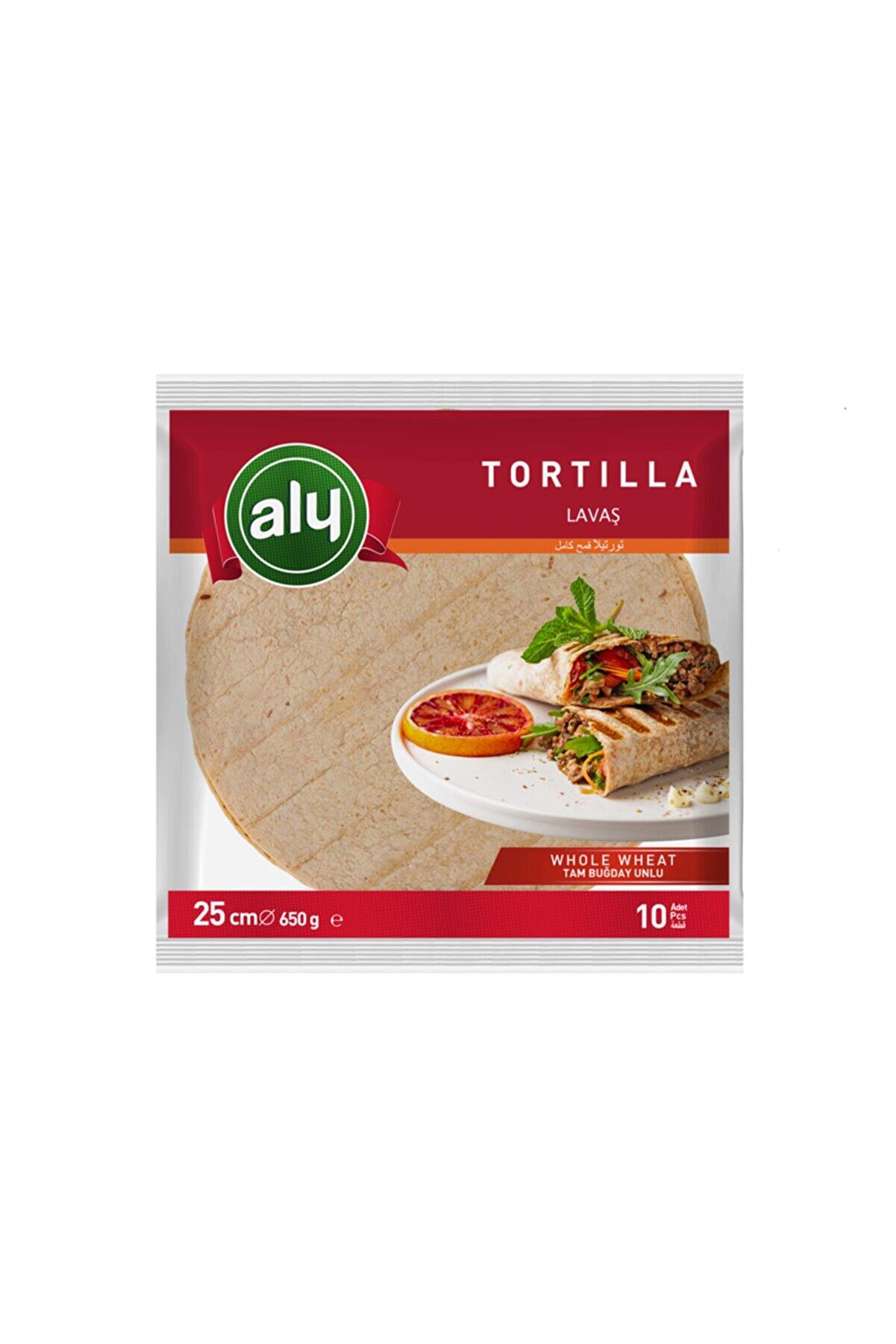 Aly 10'lu Paket Tam Buğdaylı Tortilla Lavaş 25 cm 650 gr