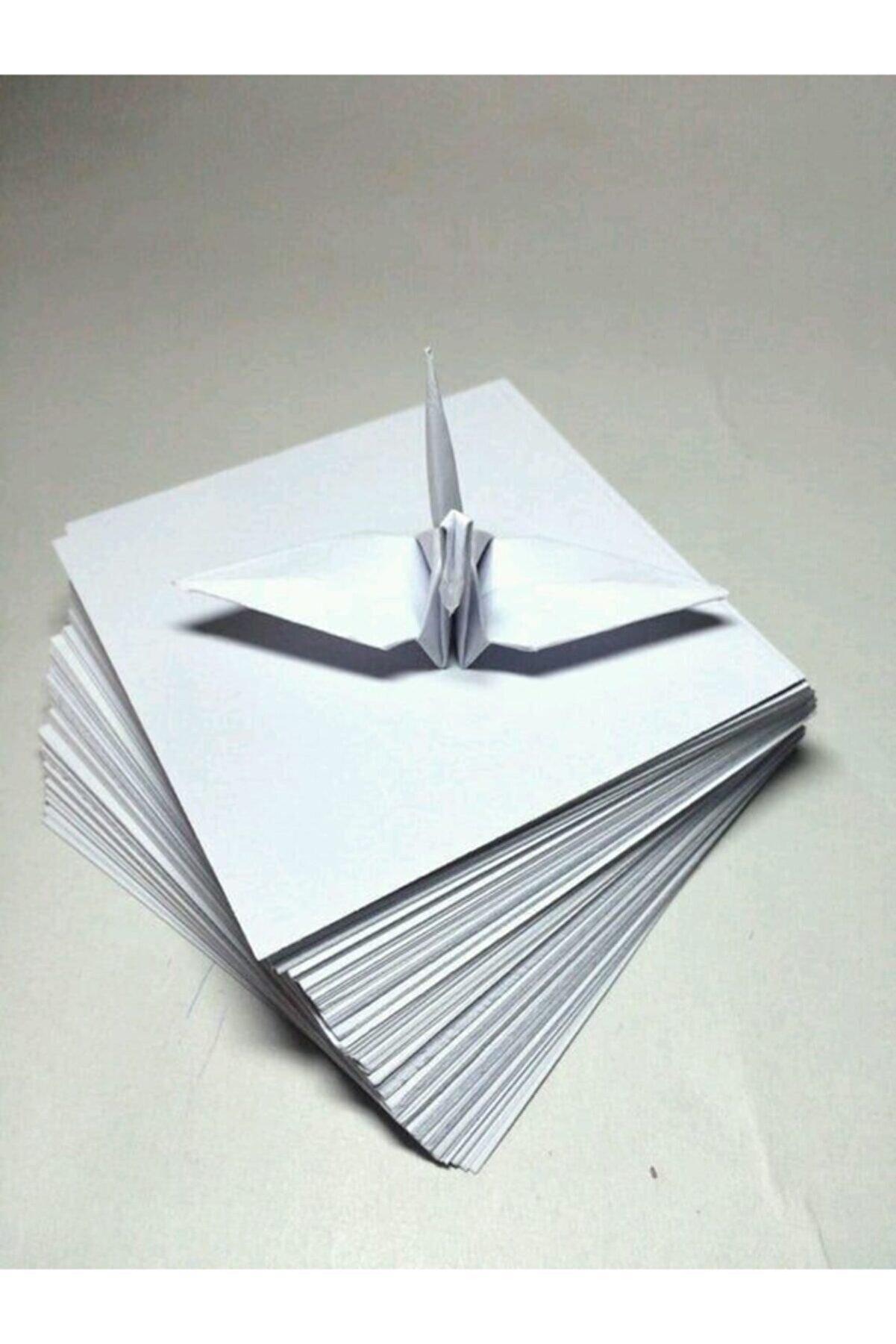 AKILLICA Origami Kağıt Seti Beyaz 100'lü Kağıt Katlama Oyunu 25x25 Cm