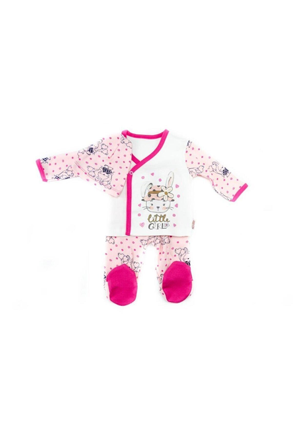 Sönmez Baby Kız Bebek Pembe Little Girl Penye 3'lü Takım