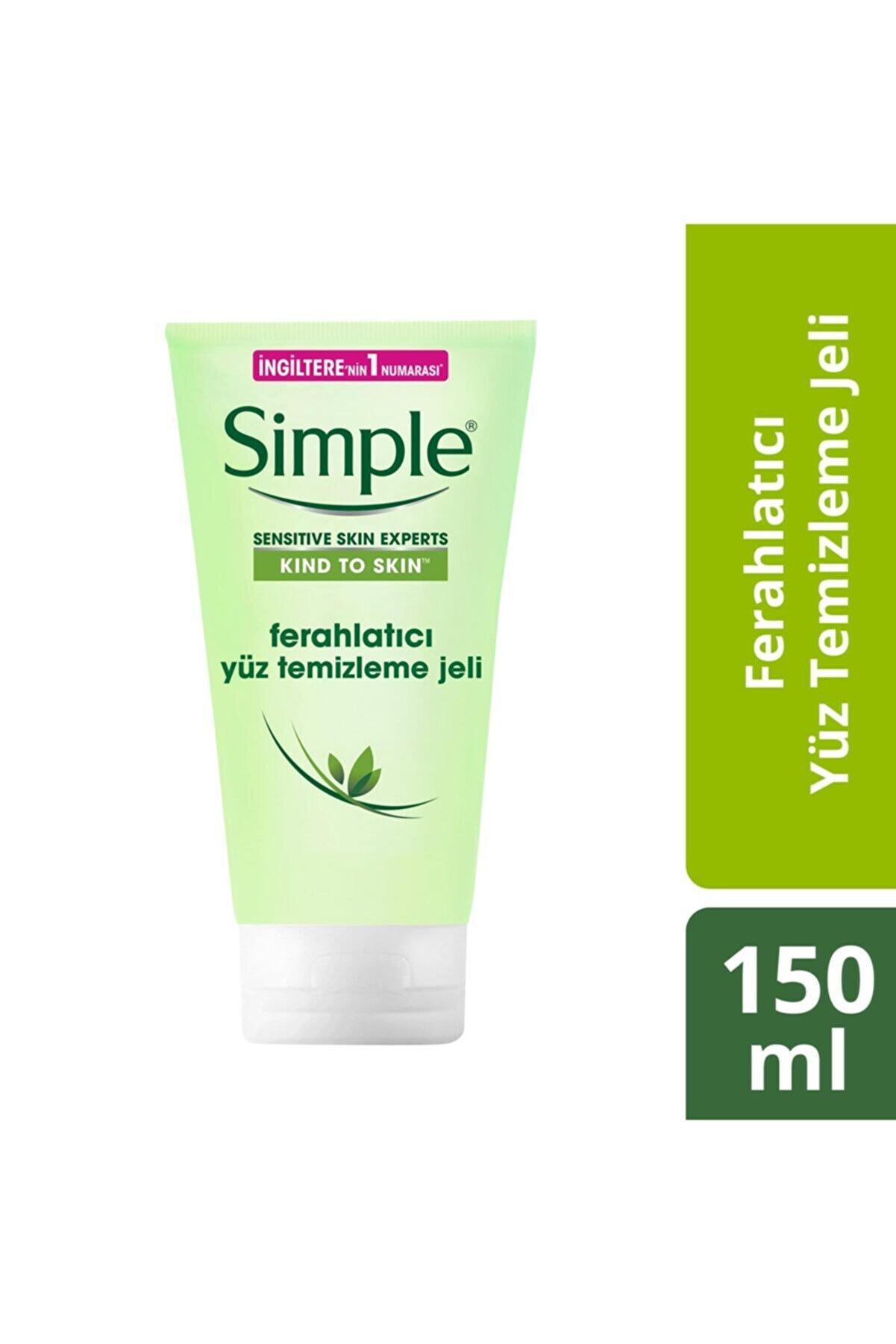 Simple Kind To Skin Hassas Ciltlere Uygun Vitamin E&B5 İçeren Ferahlatıcı Yüz Temizleme Jeli 150 Ml
