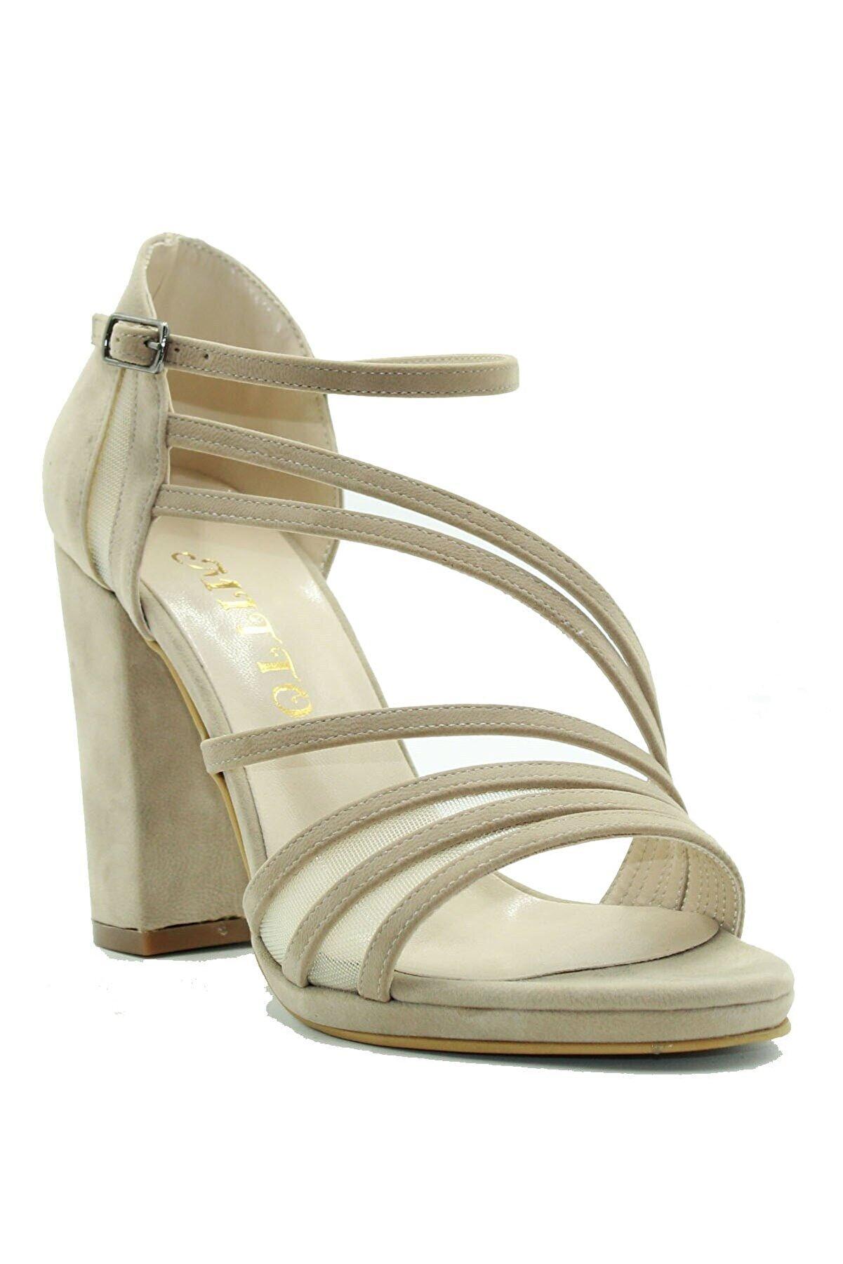 Mitto Kadın Bej Topuklu Ayakkabı 100