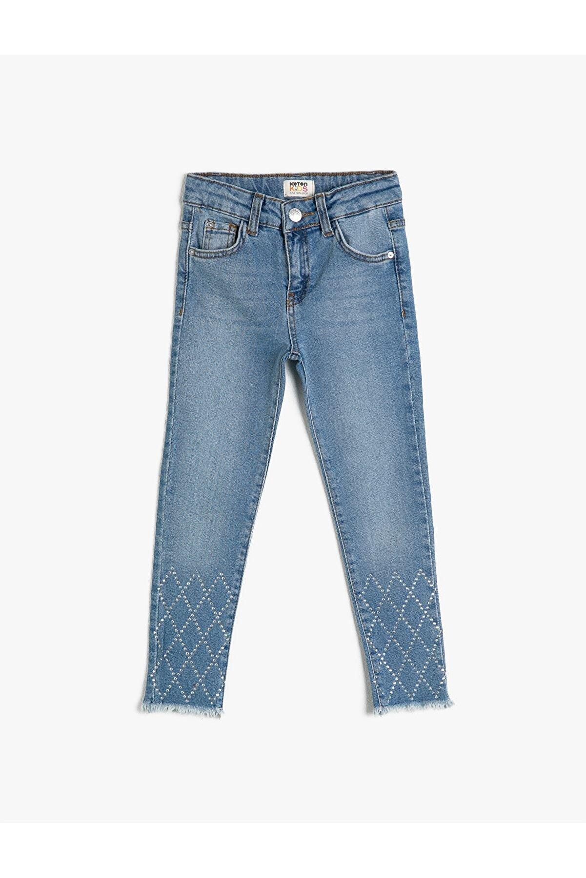Koton Kız Çocuk Light Indigo Jeans 21KY59000530