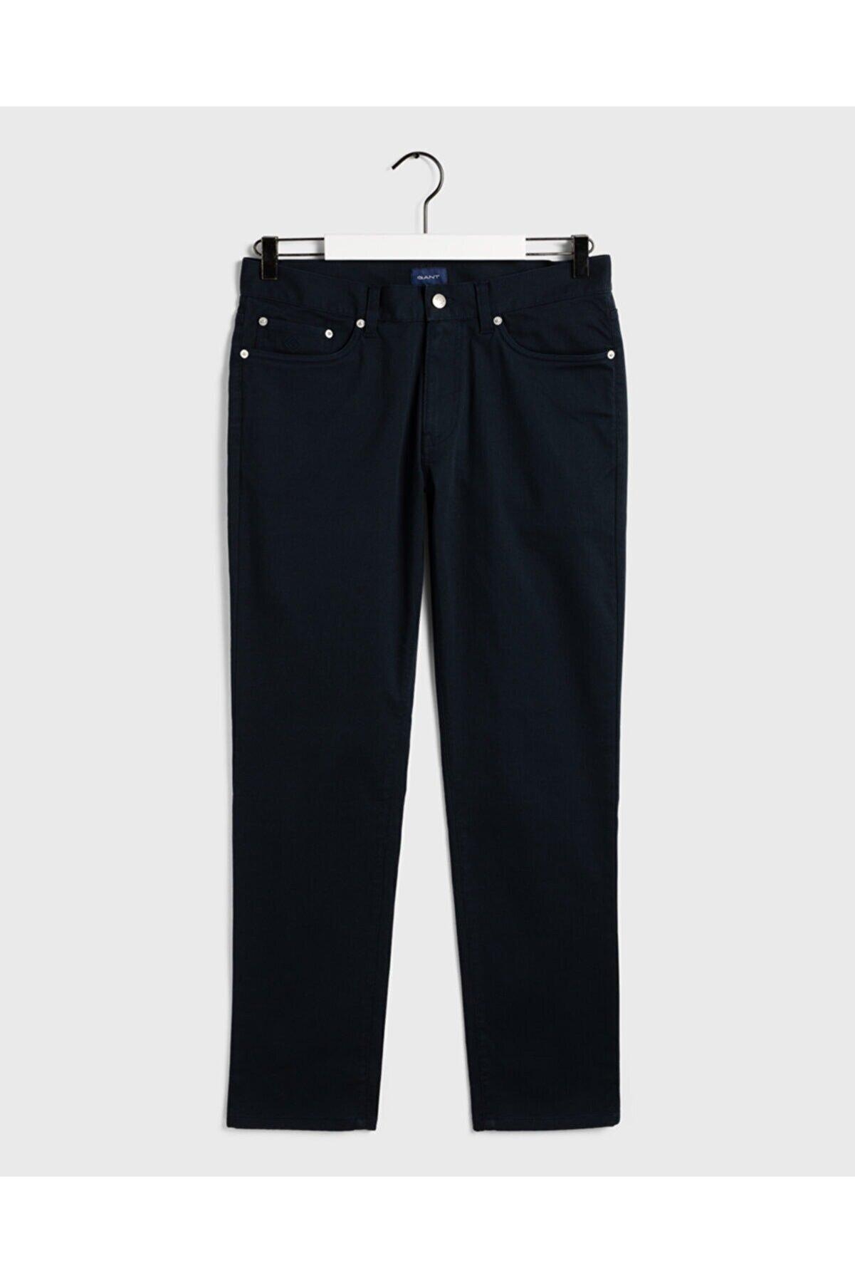 Gant Erkek Lacivert Slim Fit Tech Prep Pantolon