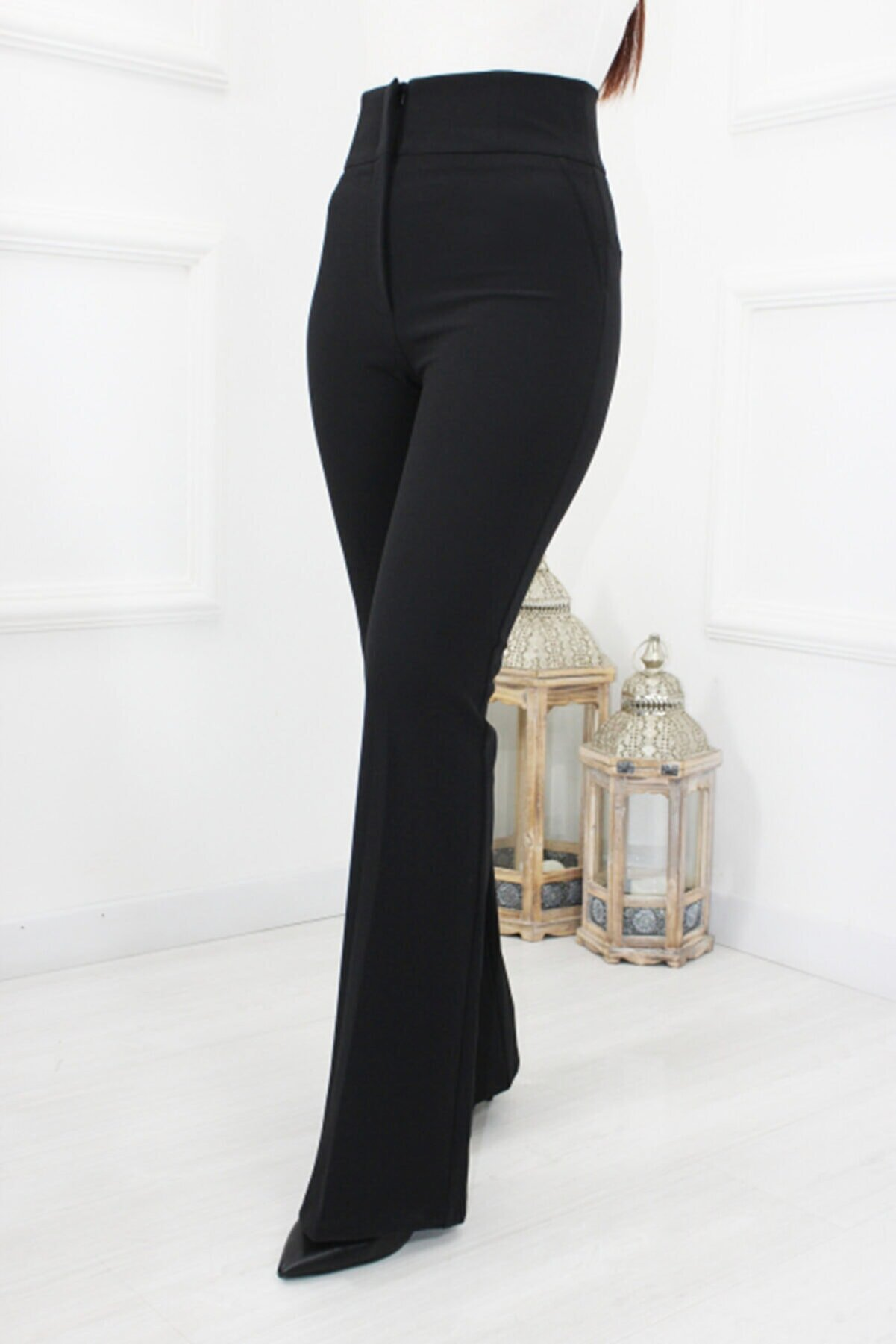 UGİMPOL Yüksek Bel Ispanyol Kumaş Pantolon