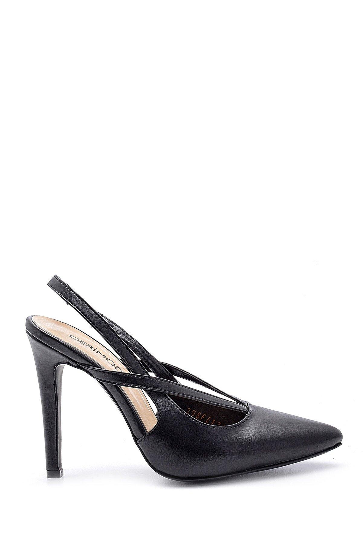 Derimod Kadın Siyah  Topuklu Ayakkabı