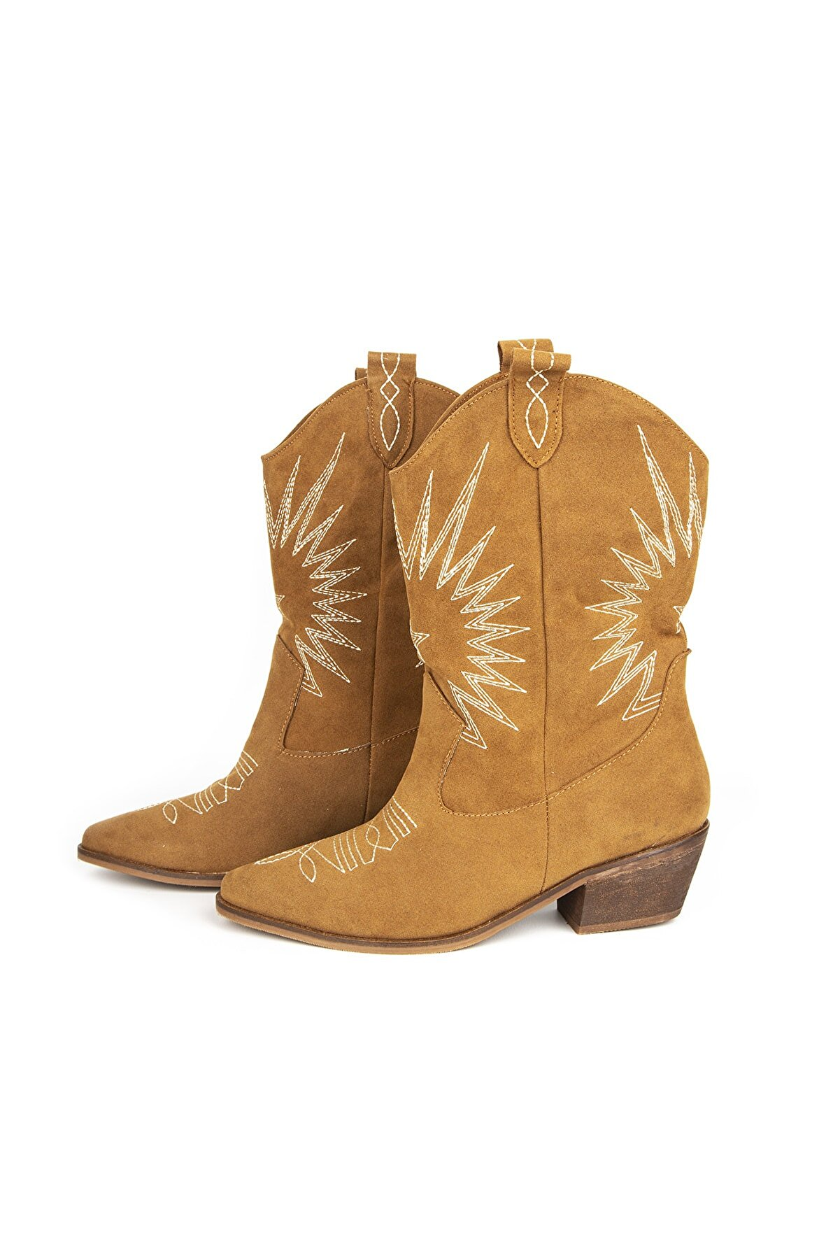 Zeynep Yiğit Shoes Kadın Taba Kovboy Çizme