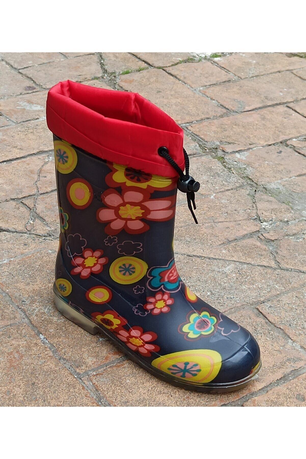 Renova Kız Çocuk Renkli Desenli Yağmur Çizmesi