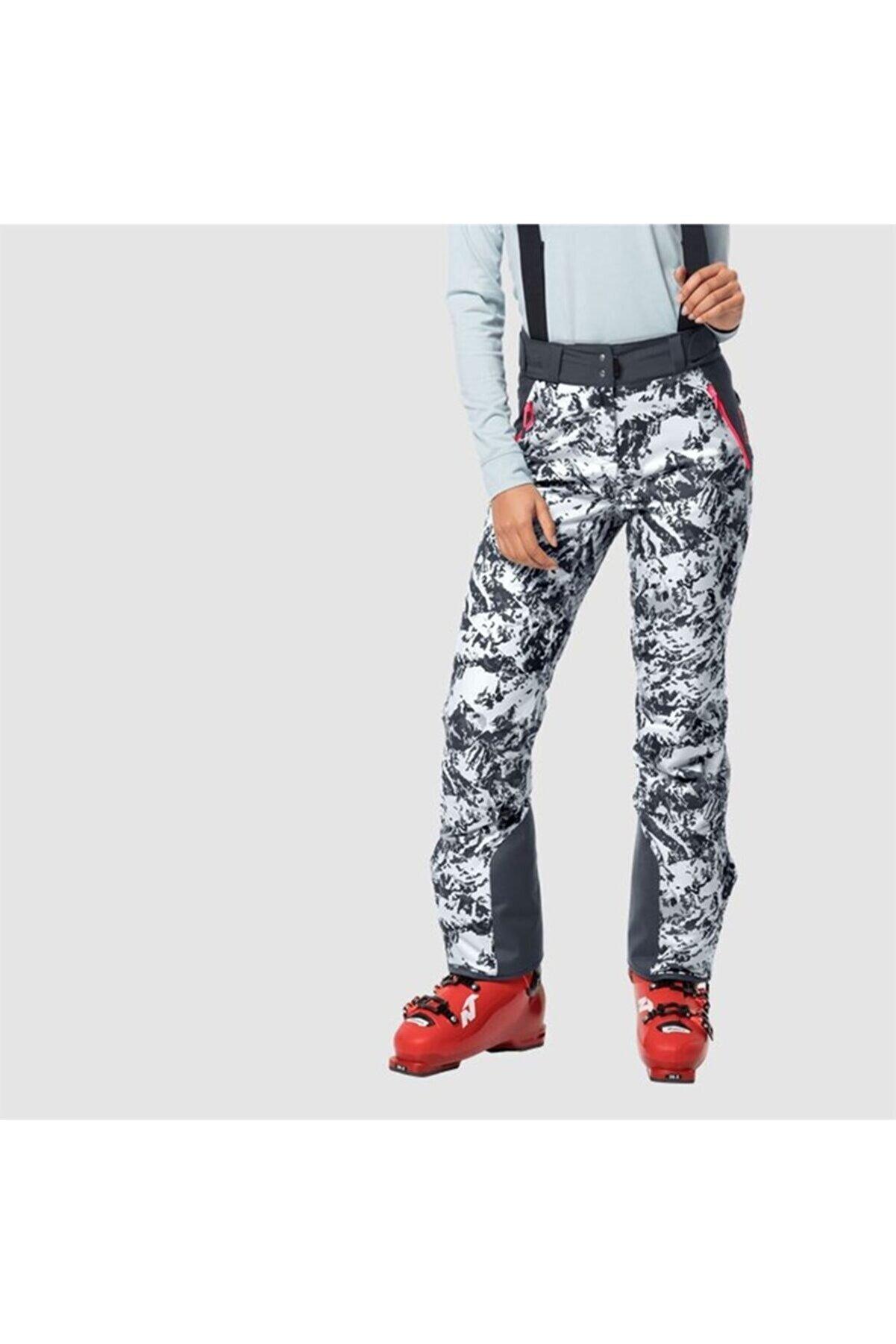 Jack Wolfskin Kadın Beyaz Panorama Peak Pants W Outdoor Kayak Pantolonu