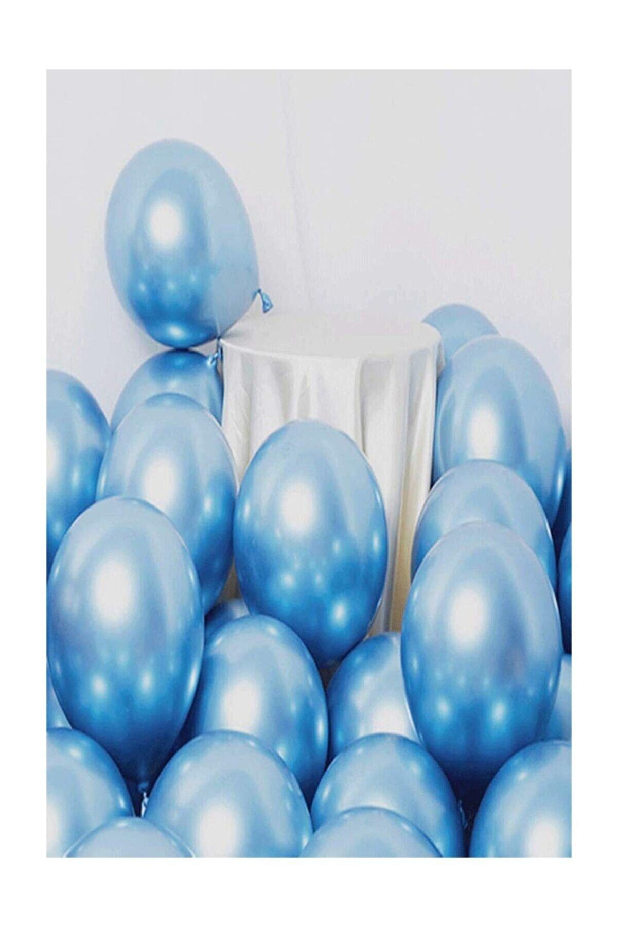 Magic Hobby Krom Parlak Metalik Mavi Renk 20'li Balon