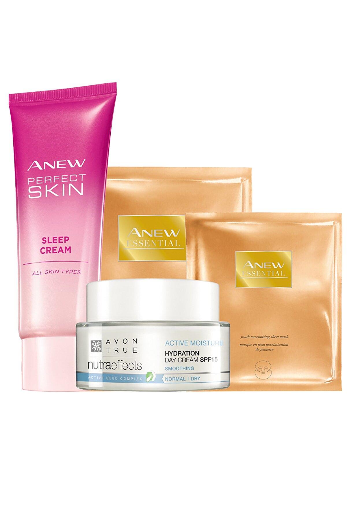 Avon Anew Kağıt Maske Ve Gece Gündüz Yüz Kremi Paketi 8681298707202