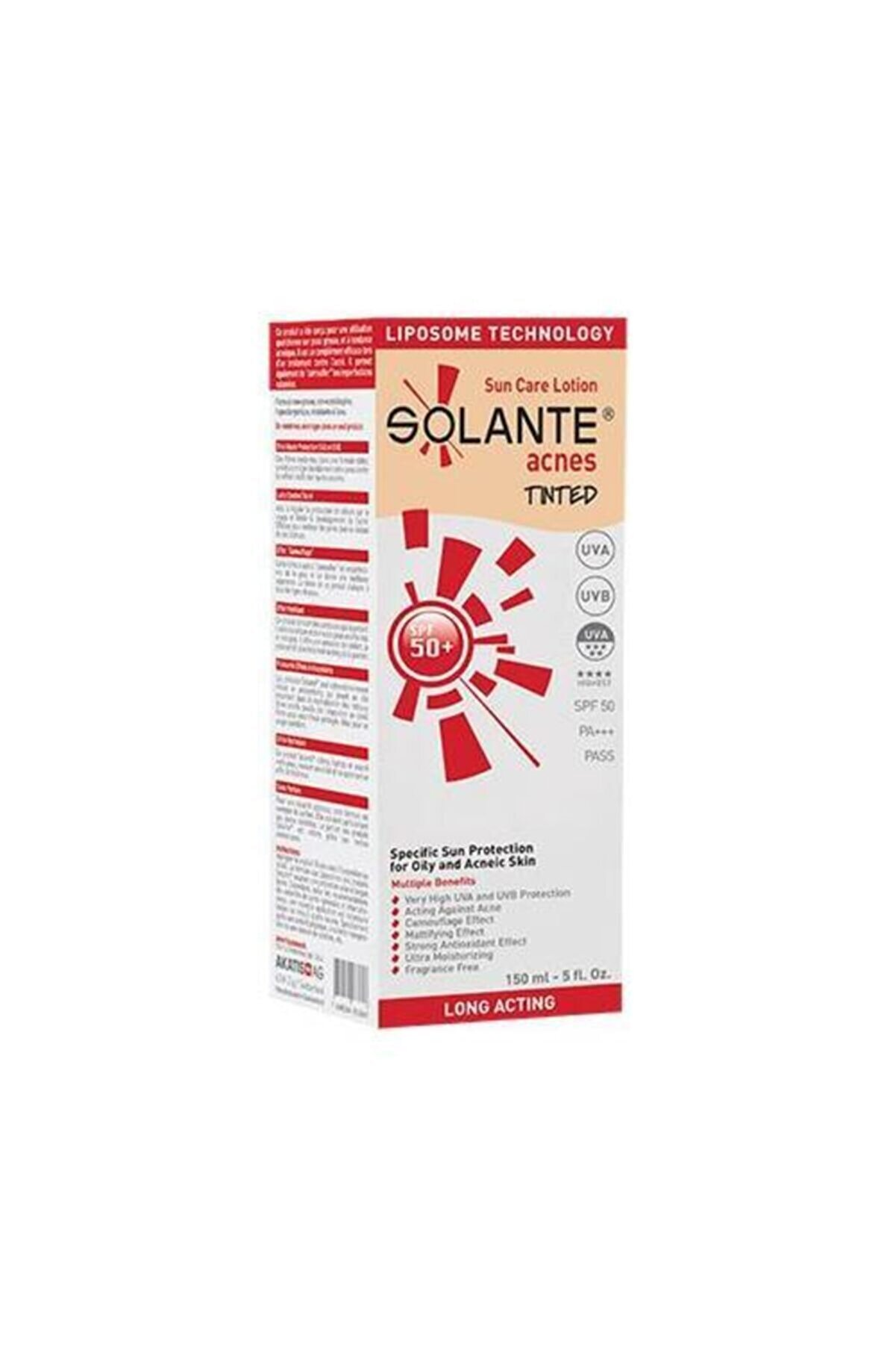 Solante Acnes Tinted Spf50 150 ml