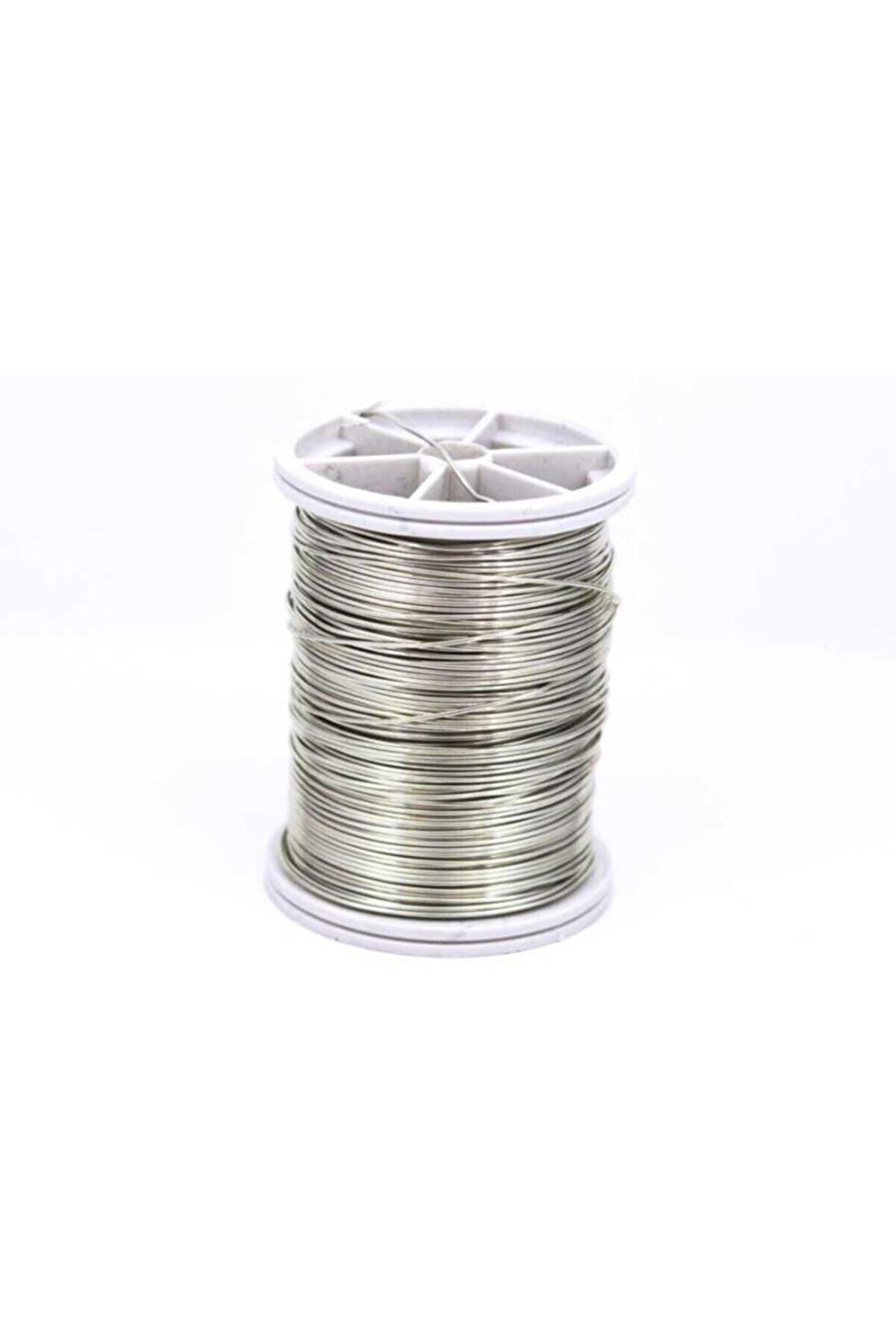 Ertürk Metal Aksesuar Bakır Çiçek Teli, Gümüş Renk Kalınlık : 0.80 mm