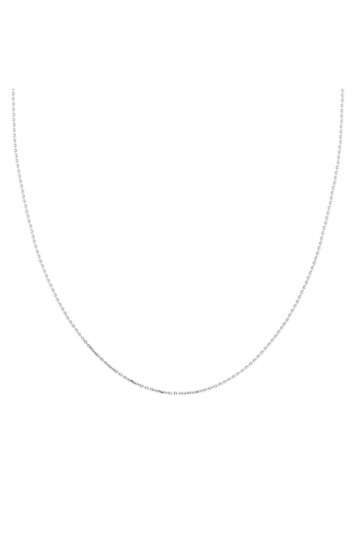 Glorria Kadın Altın 20 Mikron Beyaz Forse Zincir