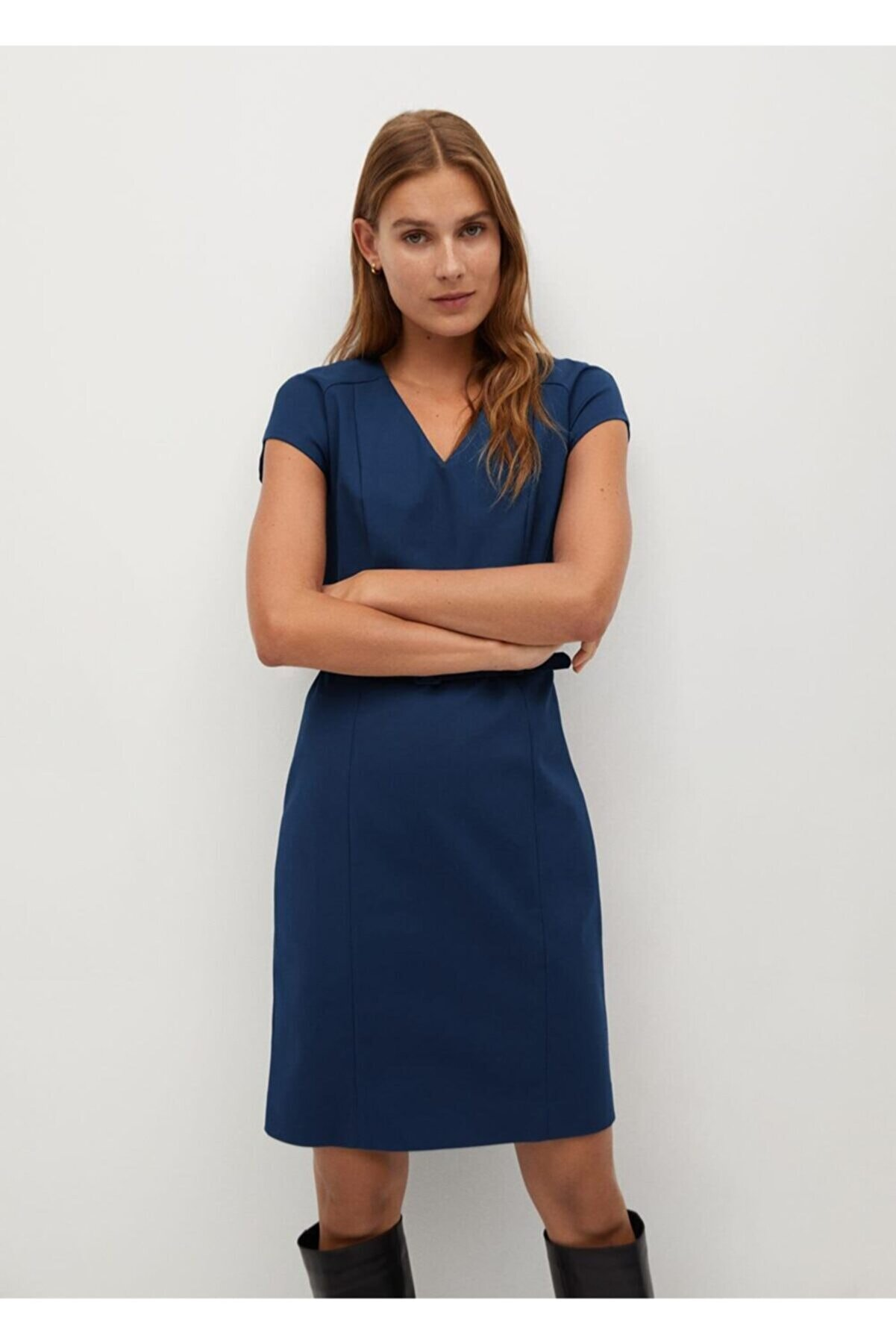 Mango Kadın Lacivert Tailored Kısa Elbise