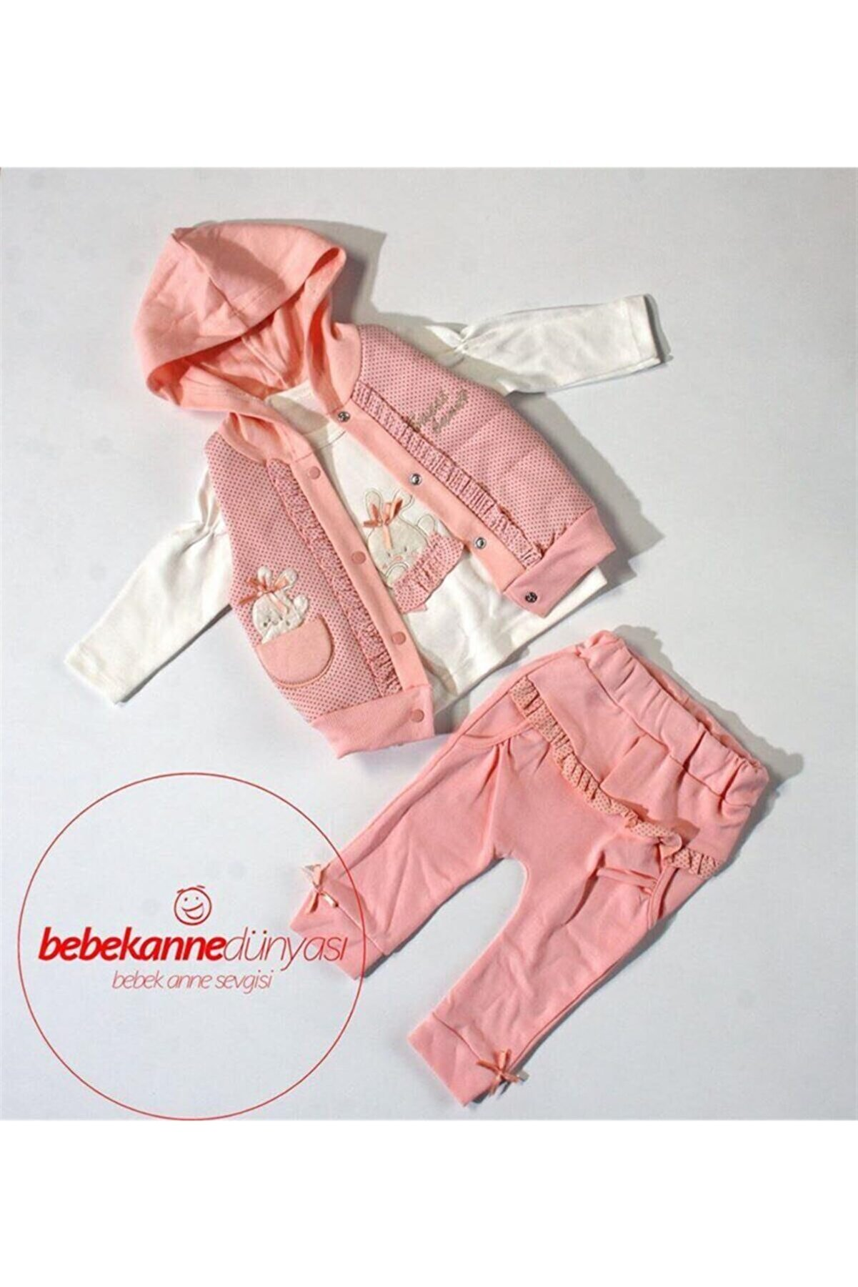 Necix's Bebe Hıppıl Baby Mevsimlik Ayıcıklı Lüx Takım 1300